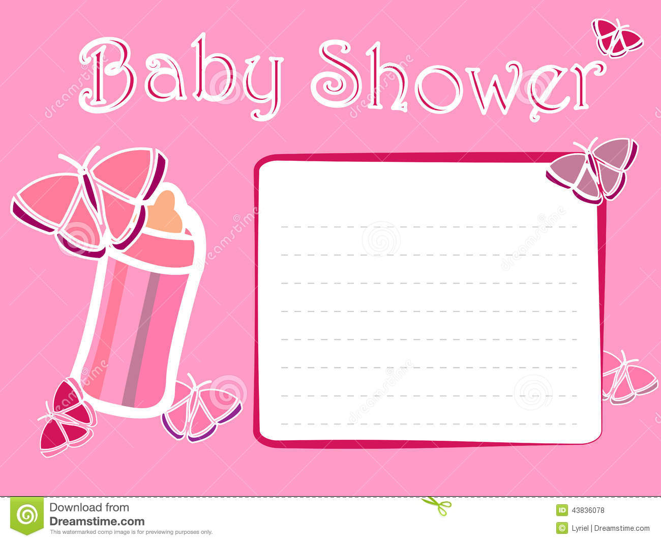 Baby Shower Invitation Cards For Girls is beautiful invitation sample