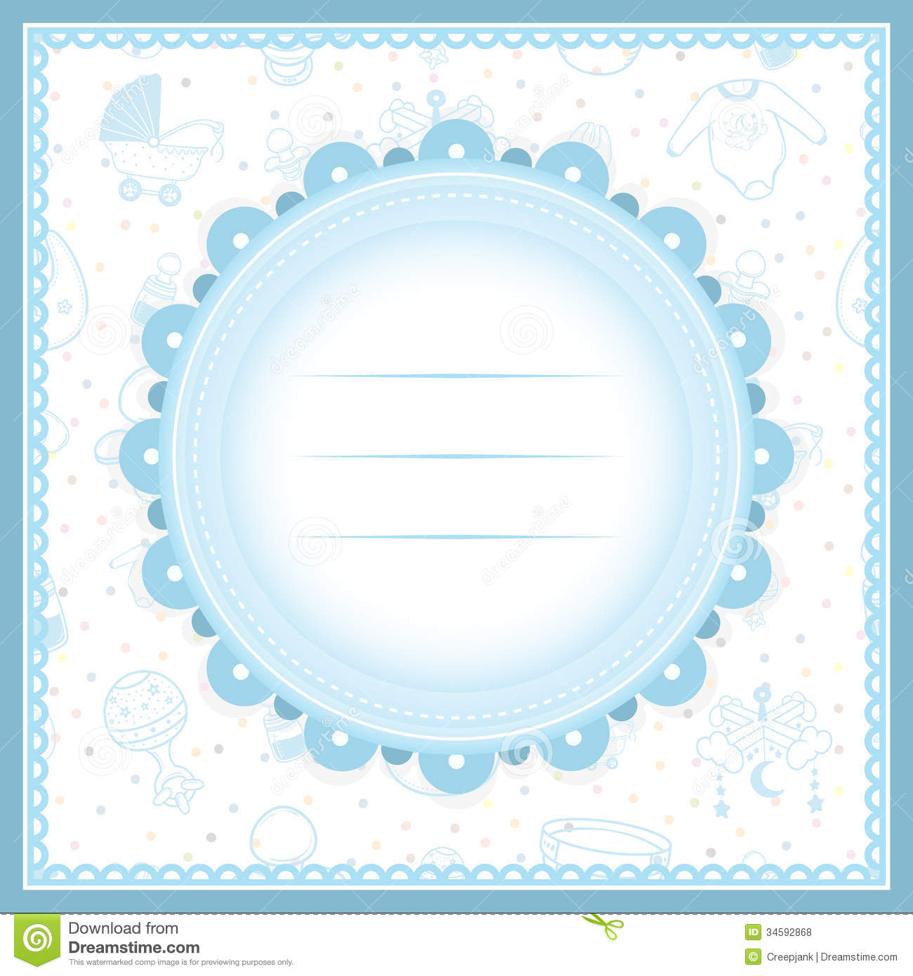 Baby shower greeting card for boy stock illustration baby shower greeting card for boy kristyandbryce Image collections