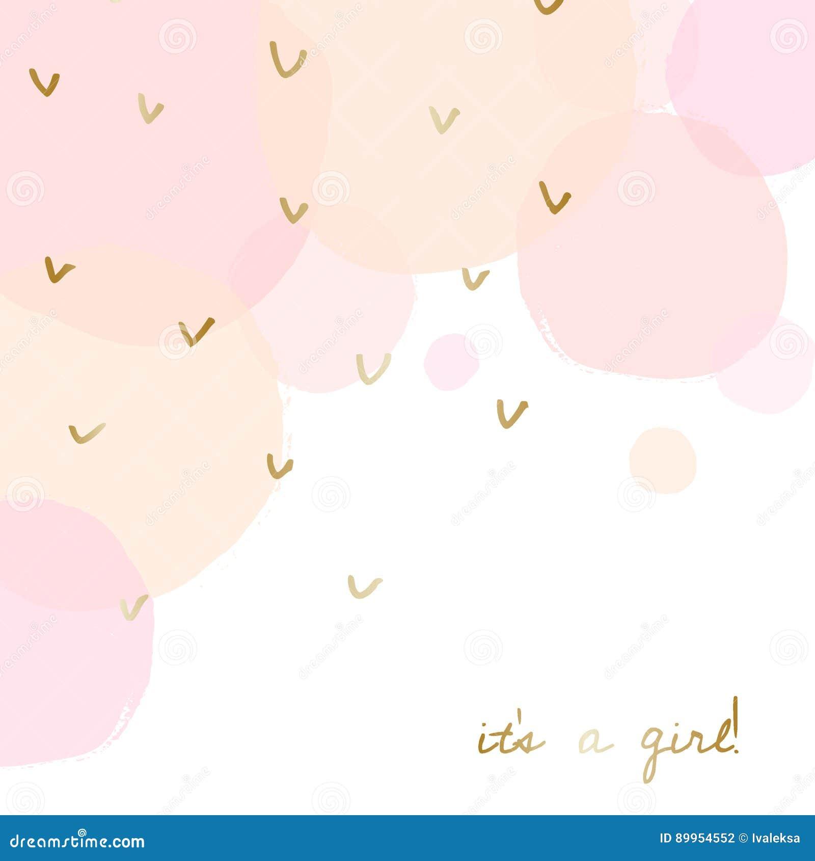 Baby Shower Greeting Card Design Stock Vector Illustration Of