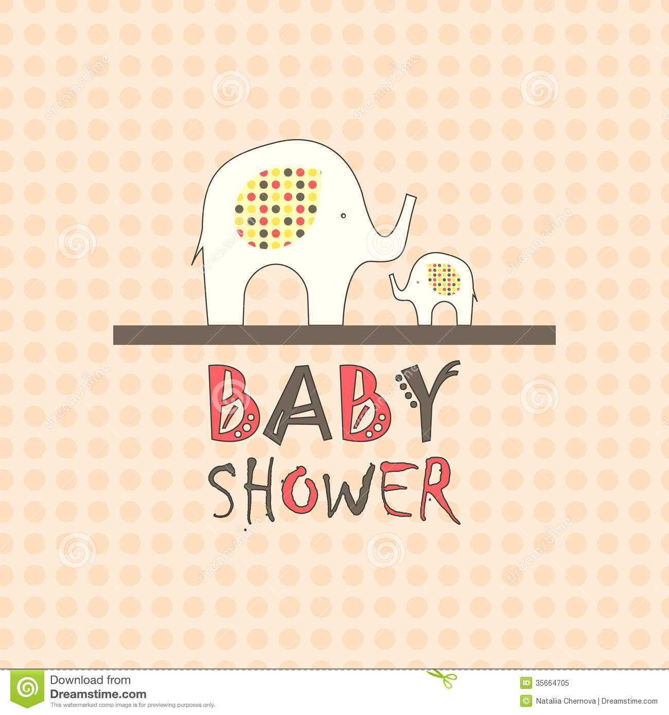 baby shower greeting card royalty free stock photo image 35664705