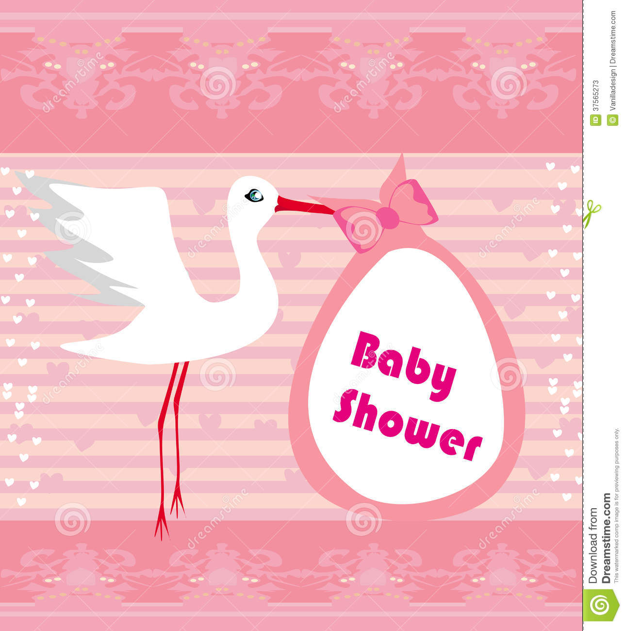 baby shower greeting card stock photos image 37565273