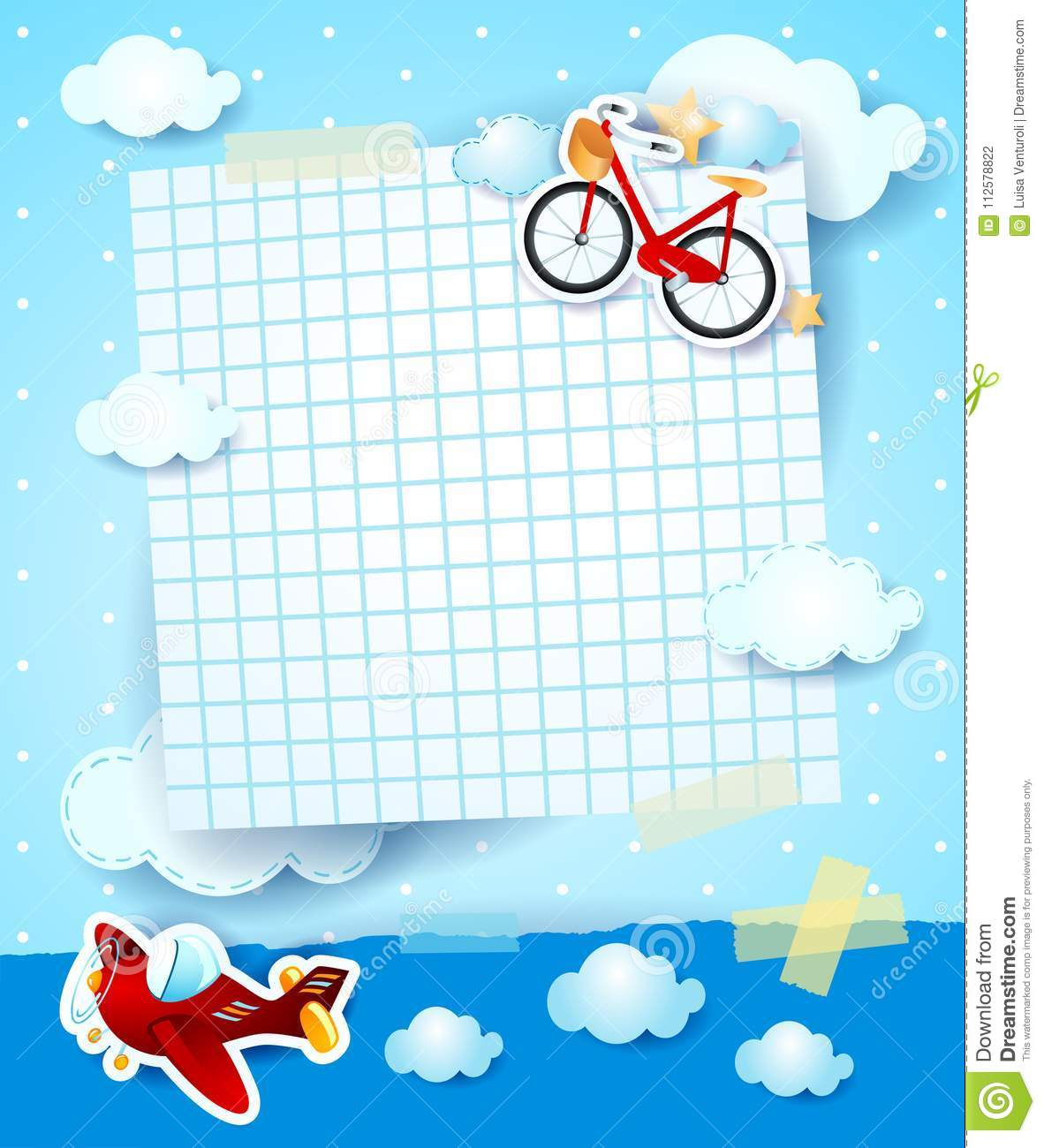 Baby shower invitation with airplane and bike stock vector download baby shower invitation with airplane and bike stock vector illustration of copy arrival filmwisefo
