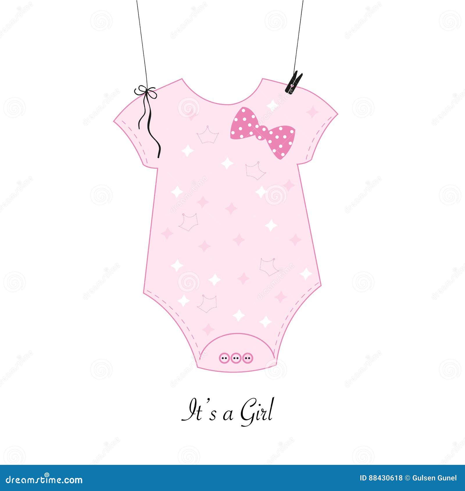 baby shower invitation baby girl body girl symbol