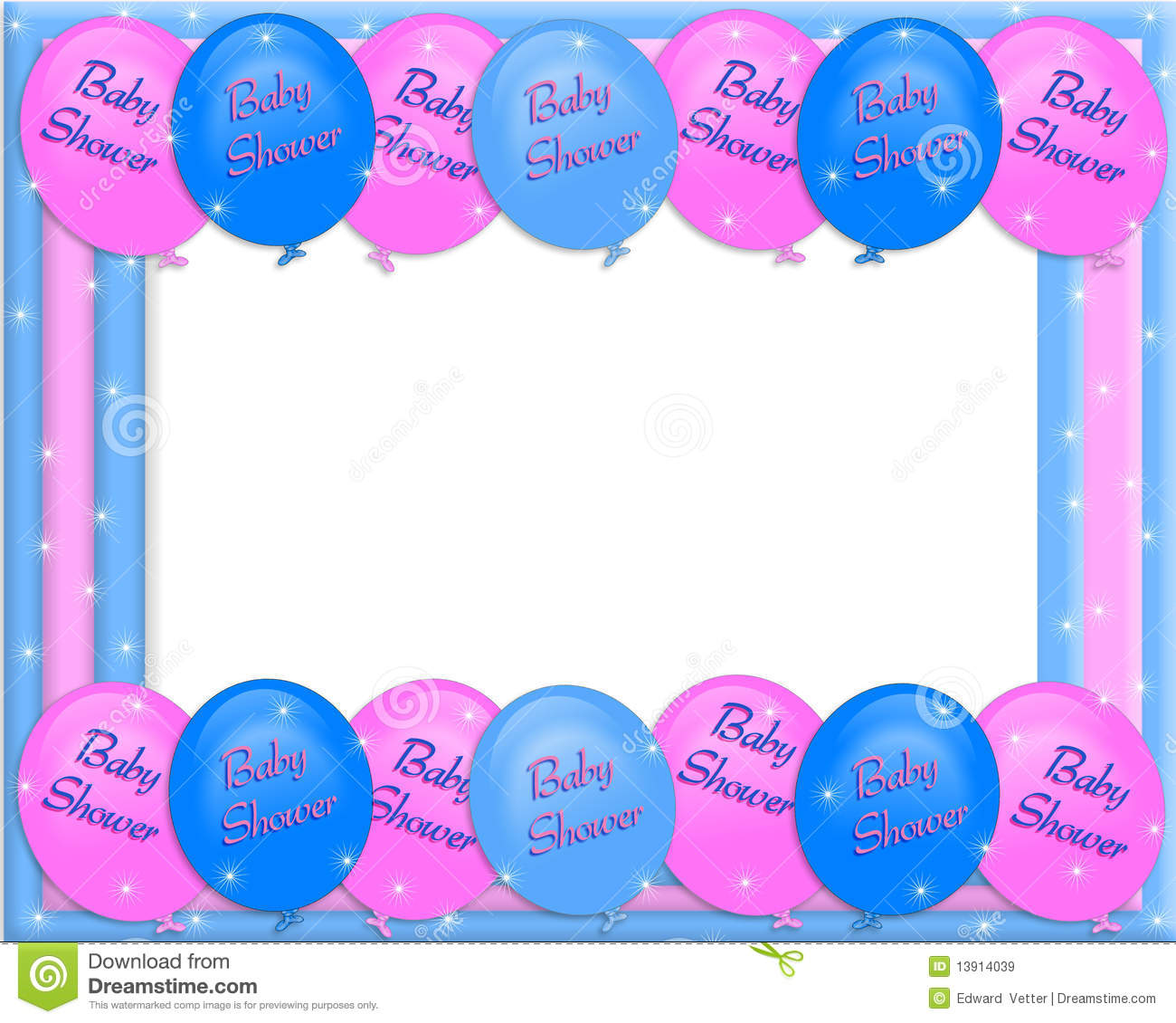Baby Shower Invitation Border Royalty Free Stock Images