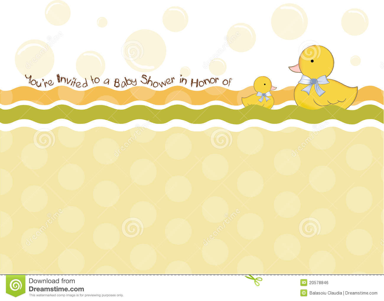 Baby Shower Invitation Card Stock Photo Image 20578846