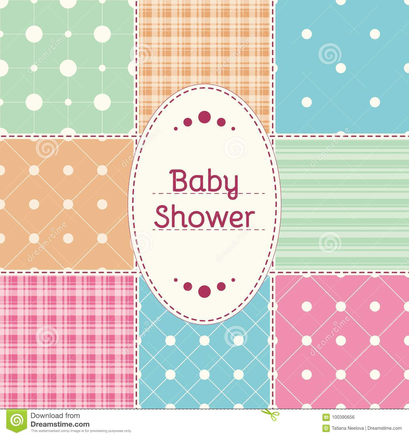 Baby Shower Invitation Card Baby Girl Boy Or Twins Arrival Shower