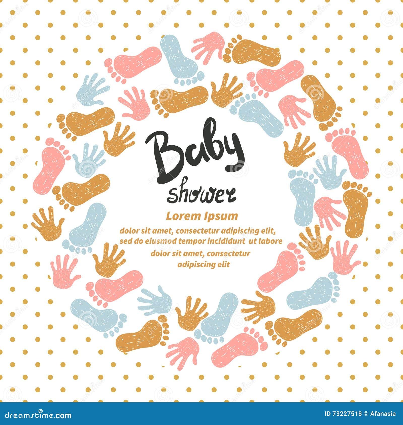 Baby Shower Invitation Card Design Stock Vector