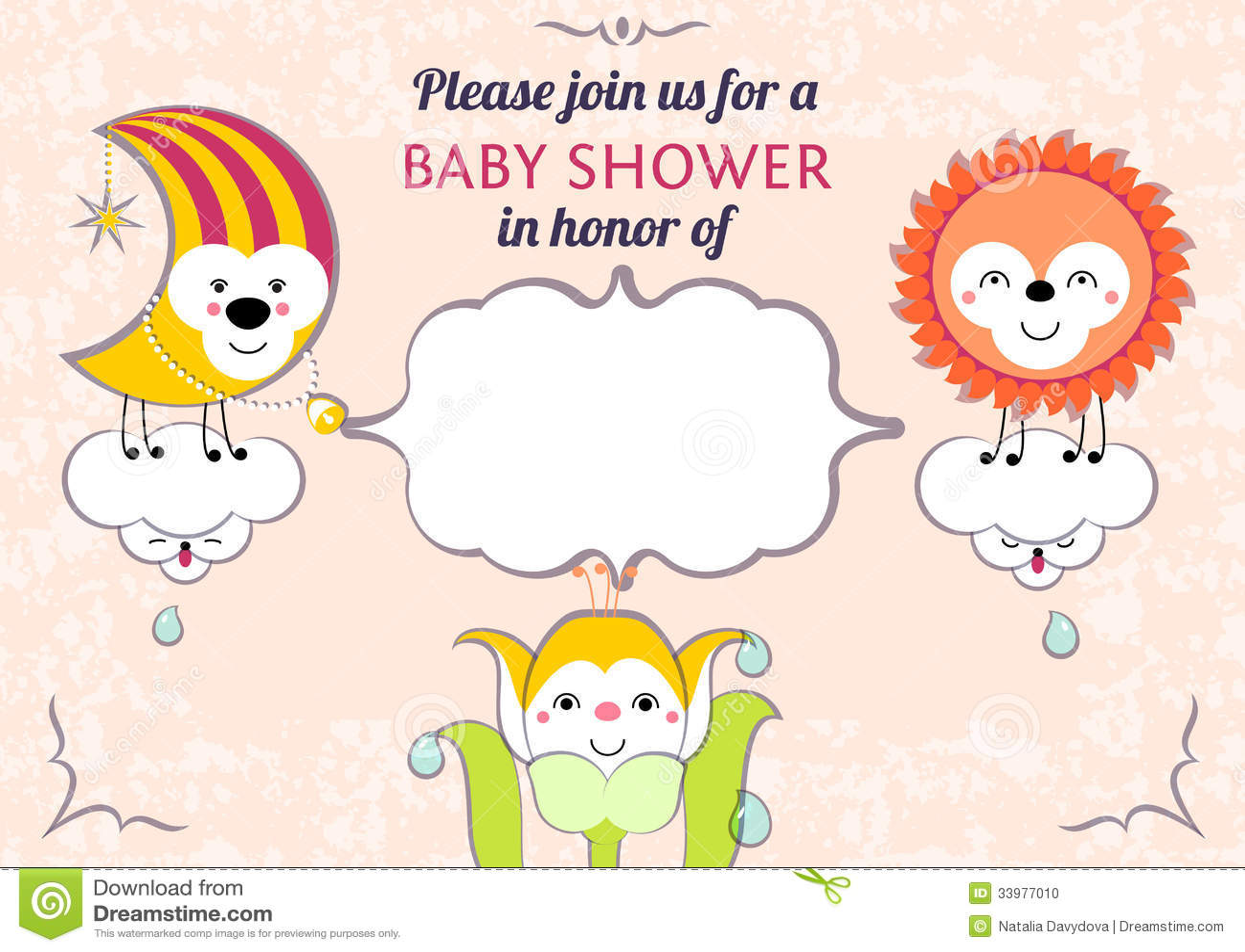 Baby Shower Invitation Card Editable Template Funn Stock ...