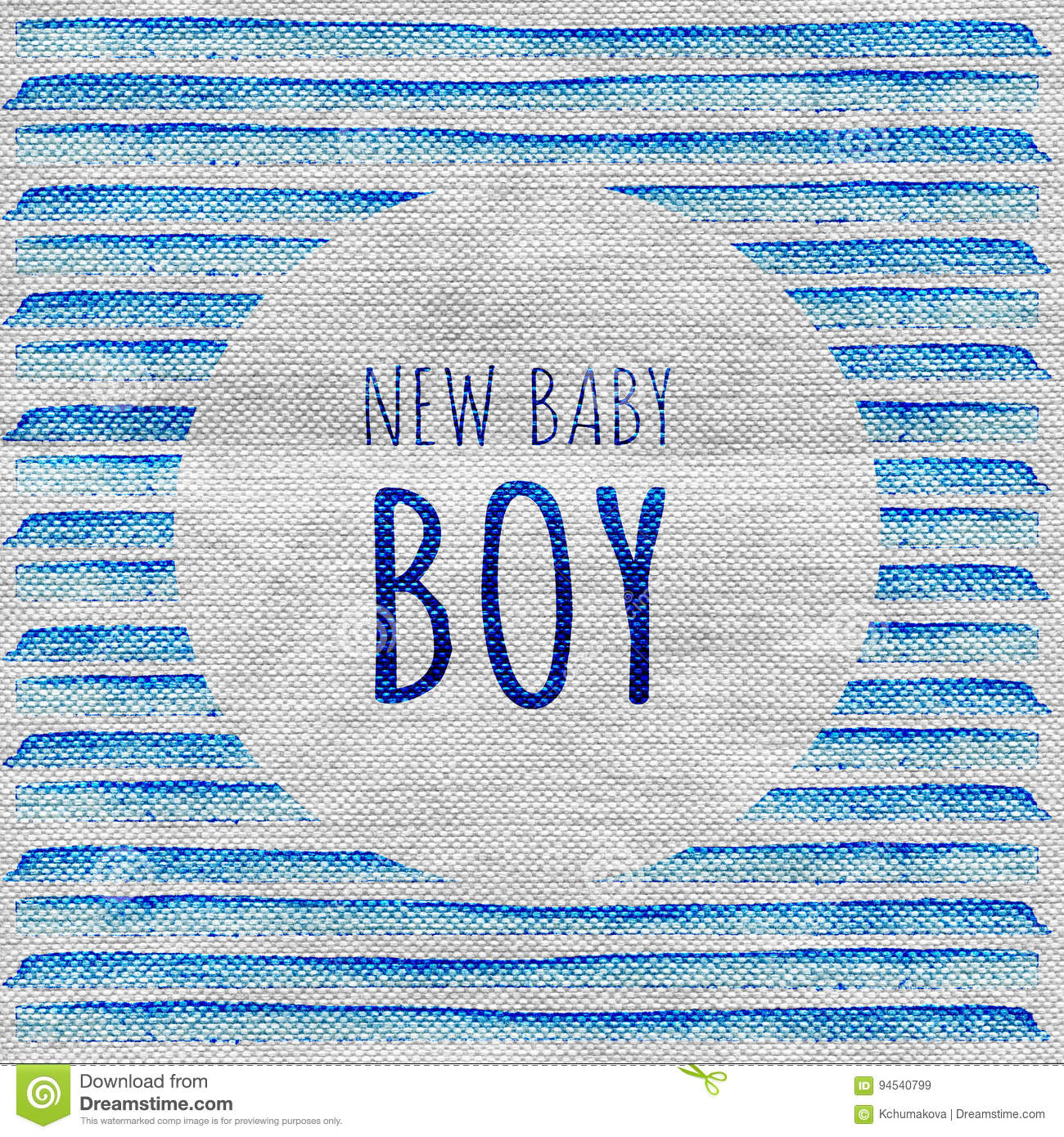 Baby Shower Invitation Card Its A Boy New Baby Boy Stock