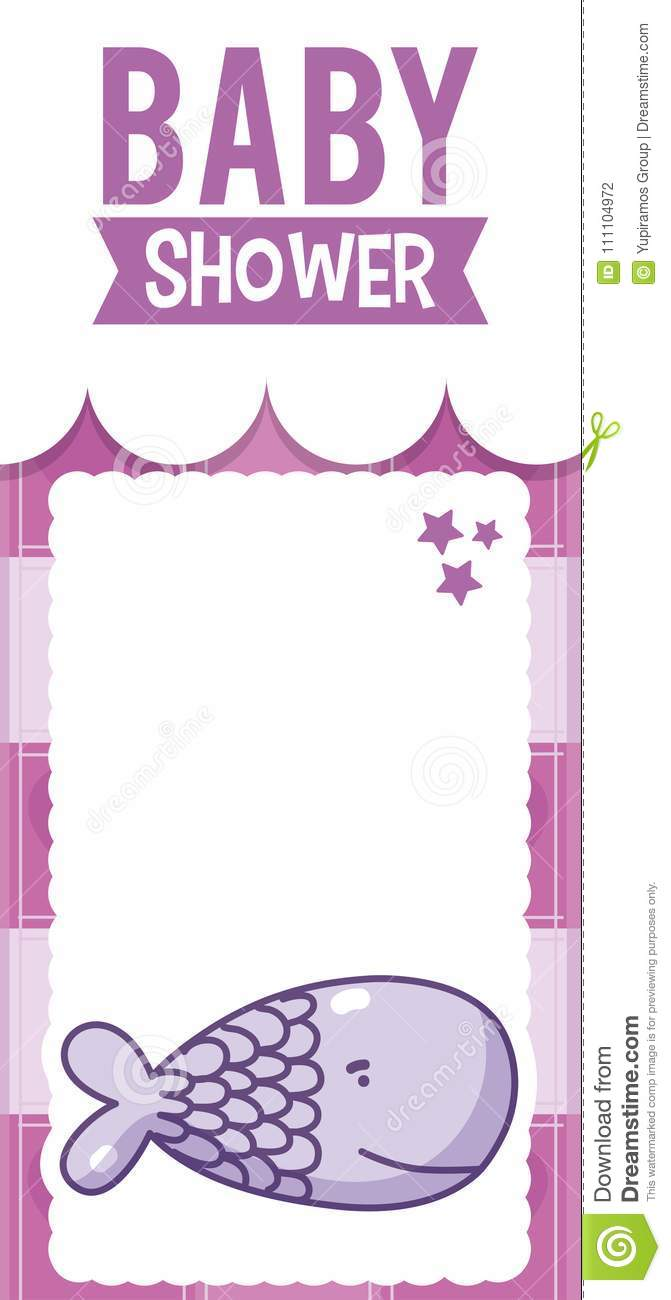 Baby Shower Invitation Card Stock Vector Illustration Of