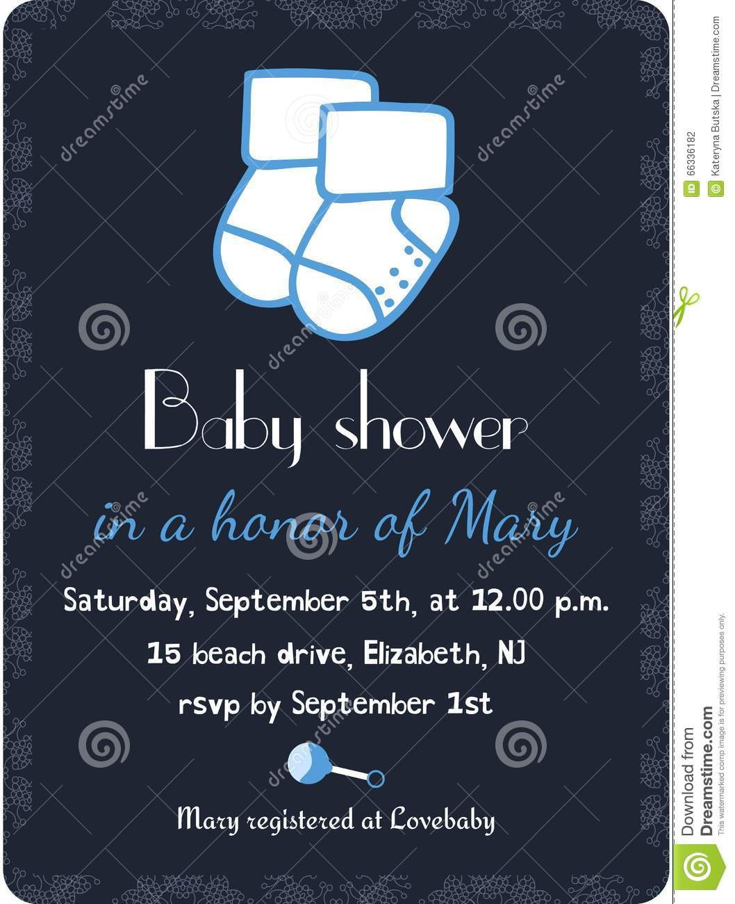 Baby boy arrival card vector by leonart image 600444 vectorstock - Baby Shower Invitation Card Template Invitation Postcard Wallpaper Gallery Baby Boy Shower Card