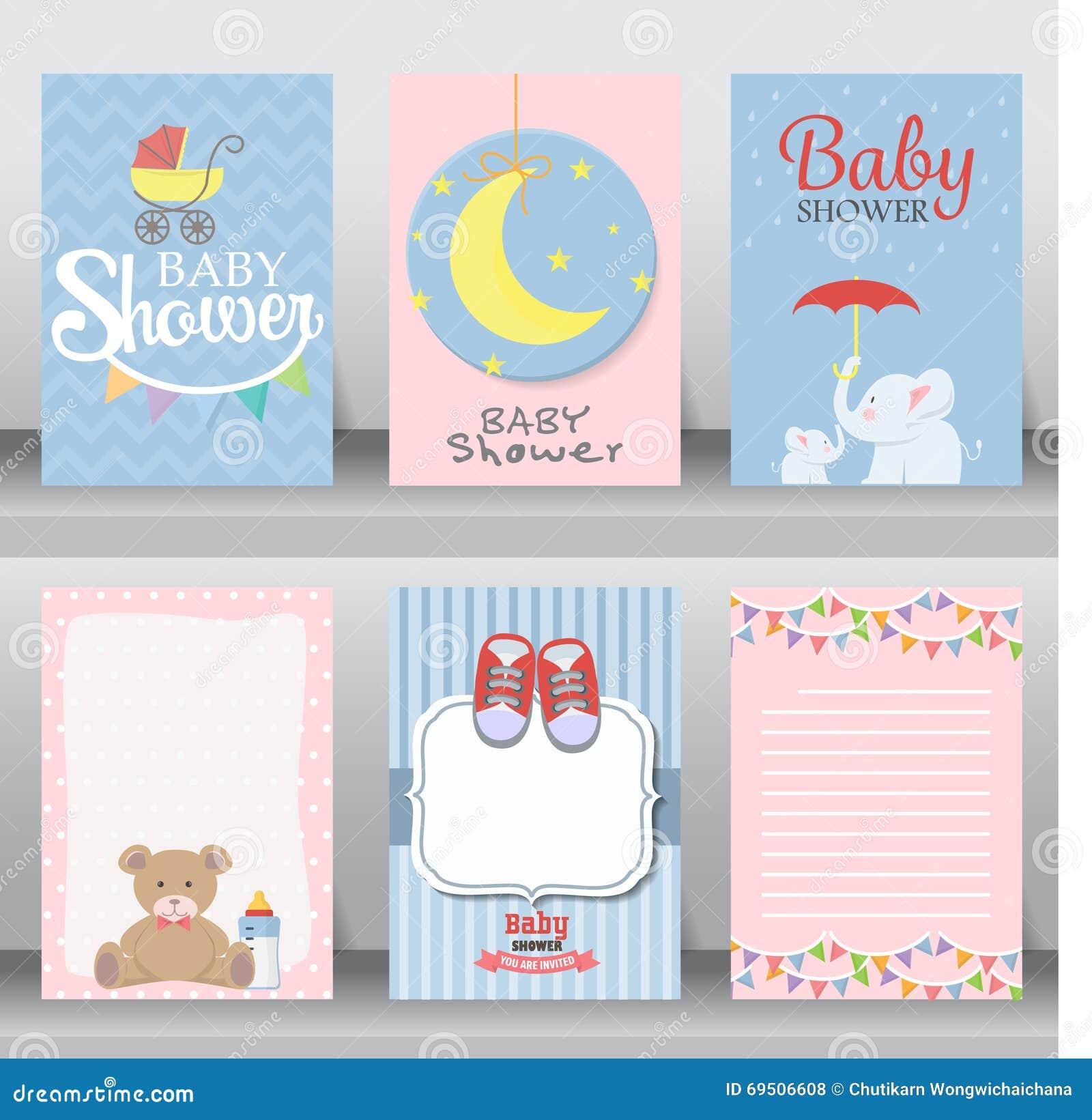 Baby shower invitation card. vector