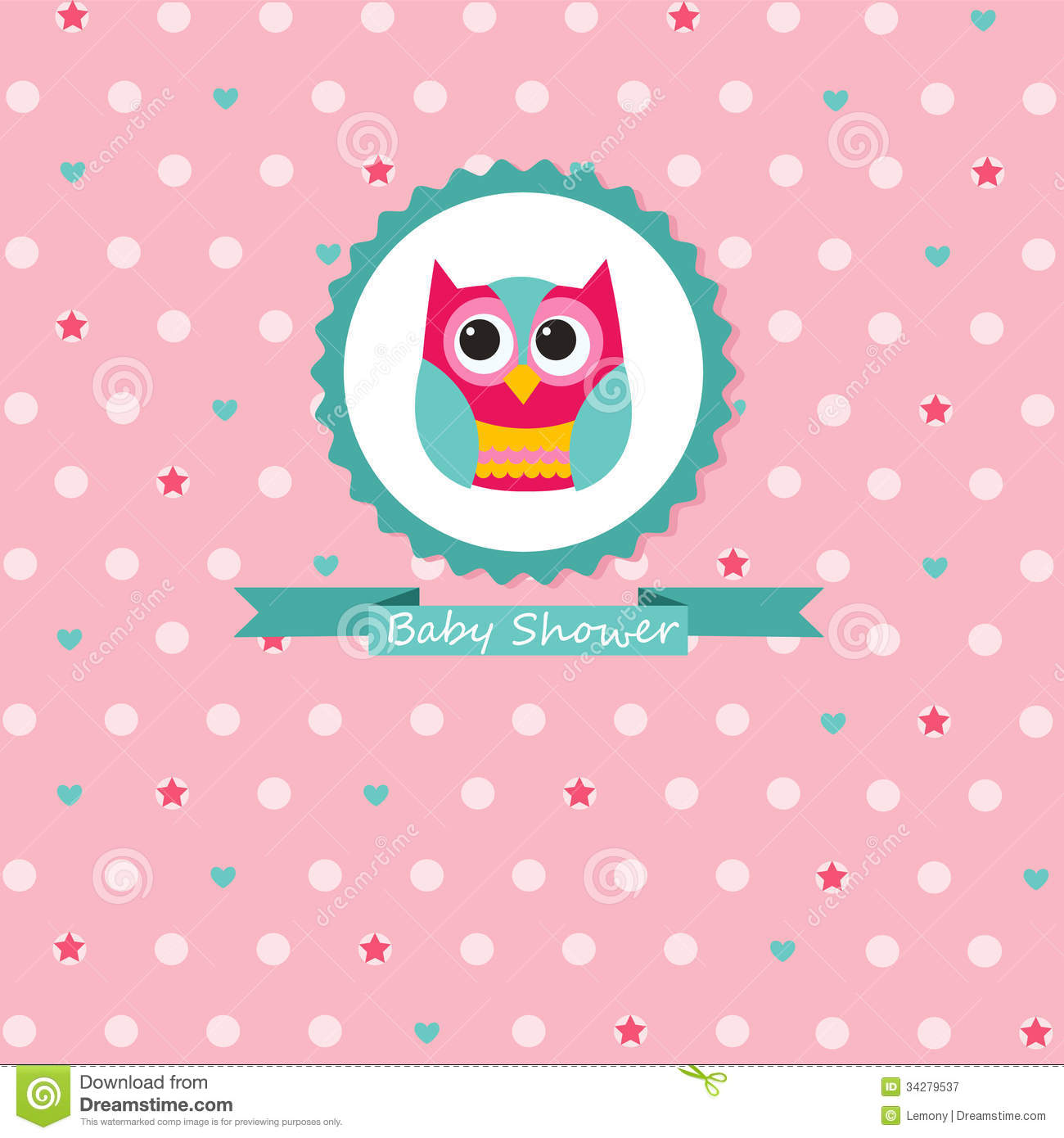 Owl Baby Girl Shower Invitations is nice invitations layout
