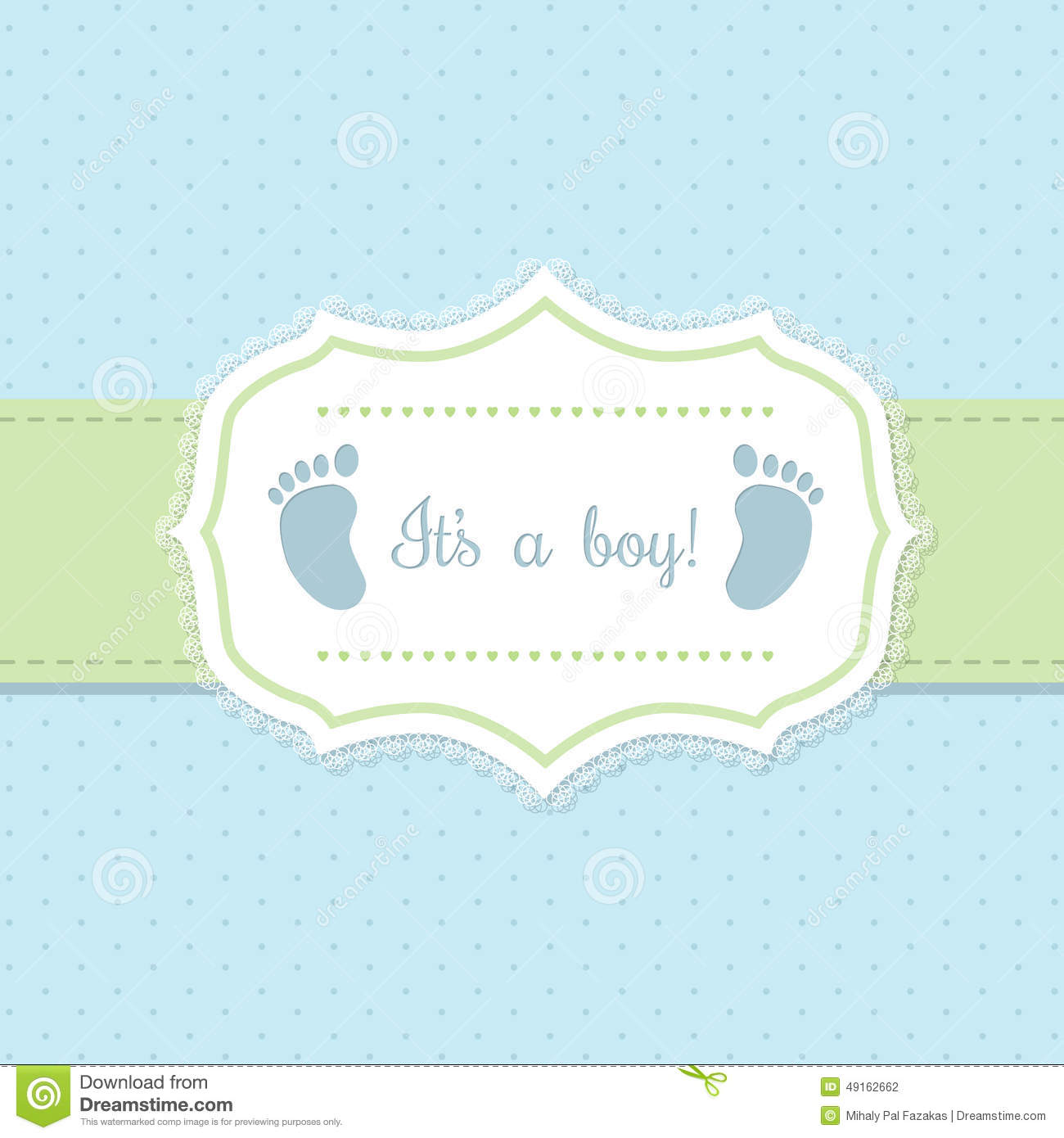 Baby shower invitation design in blue and green stock vector baby shower invitation design in blue and green with footprints filmwisefo