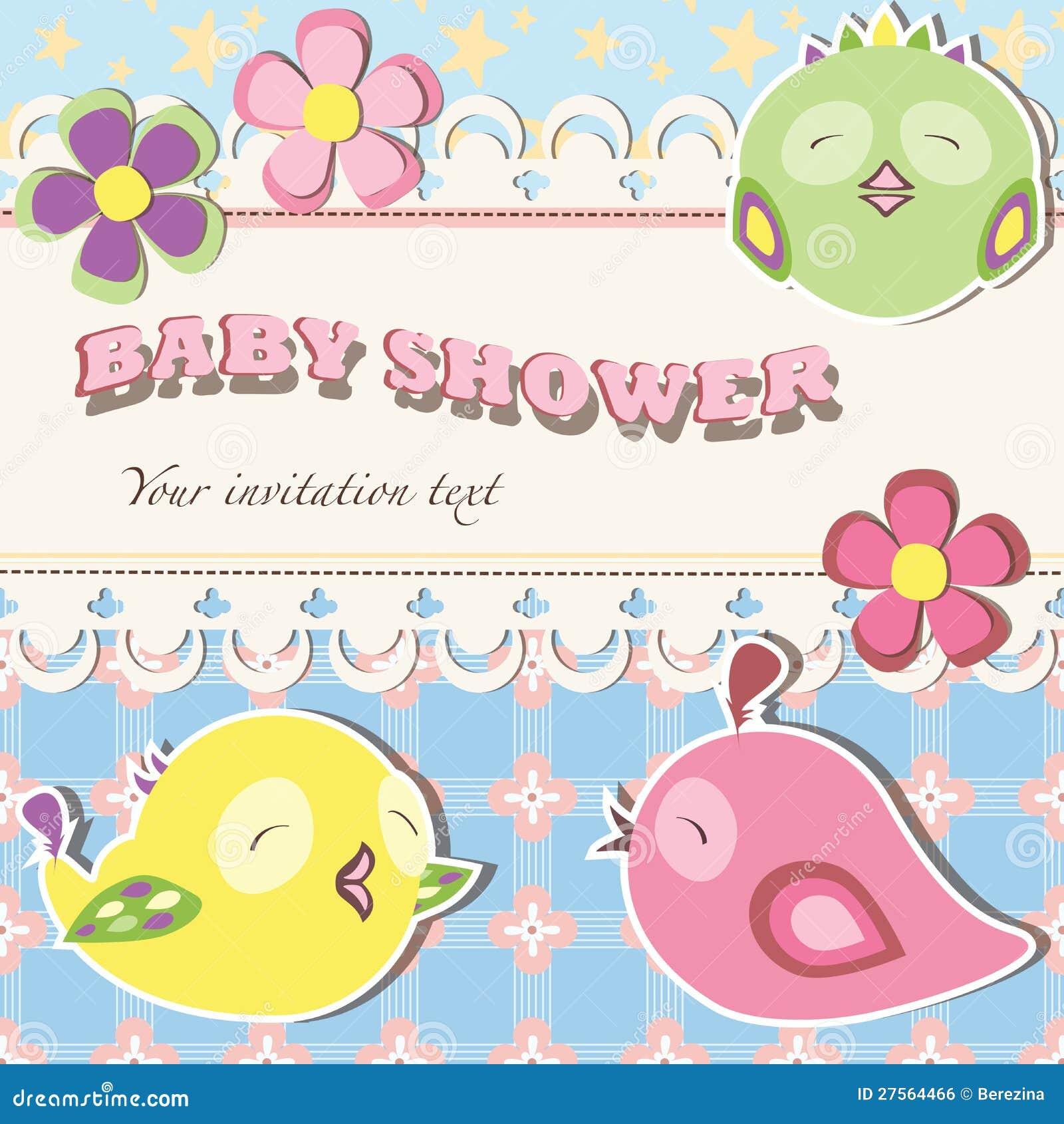 Baby Shower Invitation Postcard Royalty Free Stock Image ...
