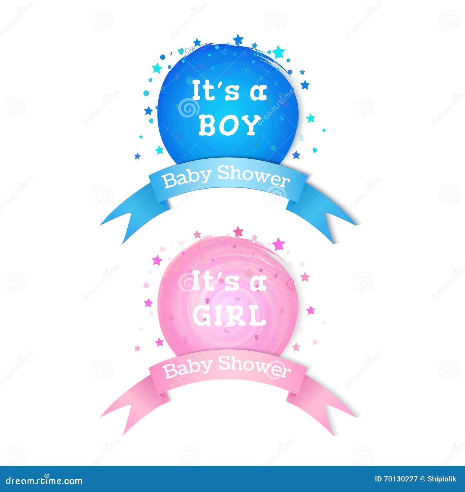 baby shower invitation stickers stock vector illustration of
