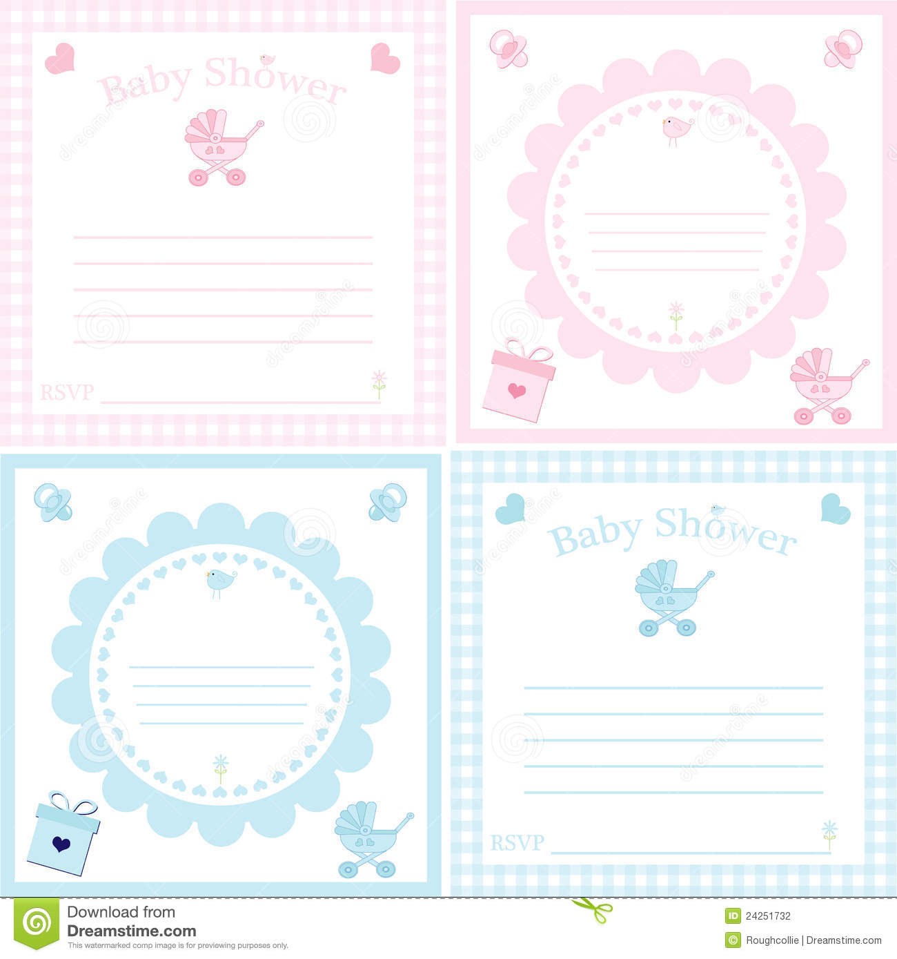 baby shower invitation template stock photography image 24251732