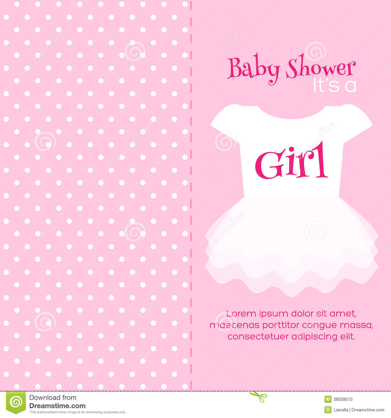 Baby Shower Invitation Template Stock Vector Illustration Of - Pink baby shower invitation templates