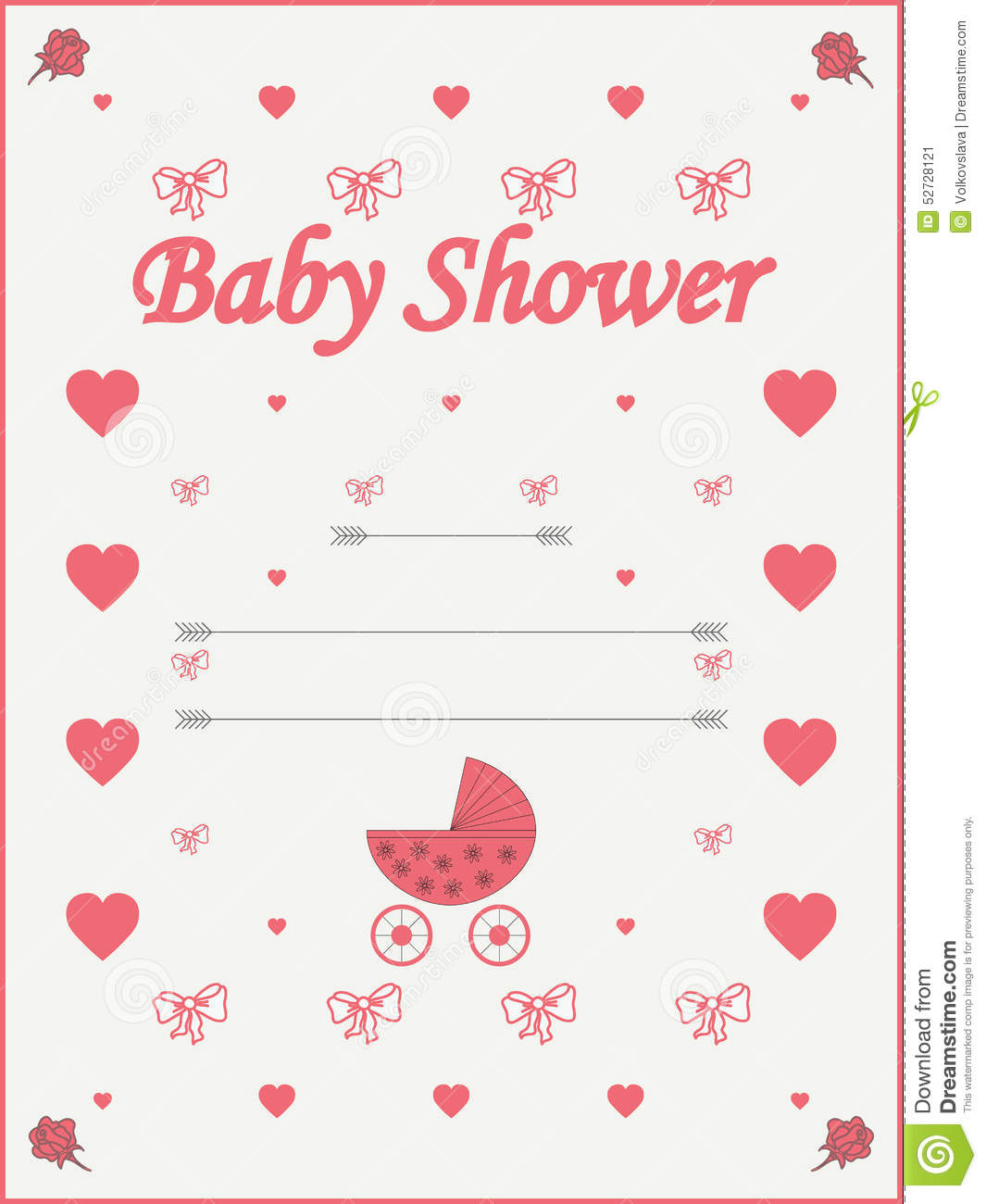 baby shower invitation template stock vector image 52728121