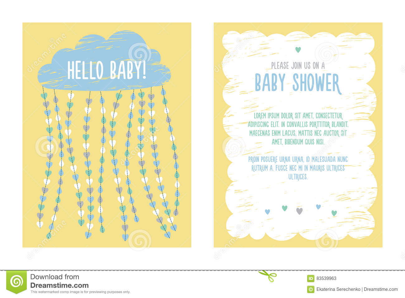 Baby shower invitation template design