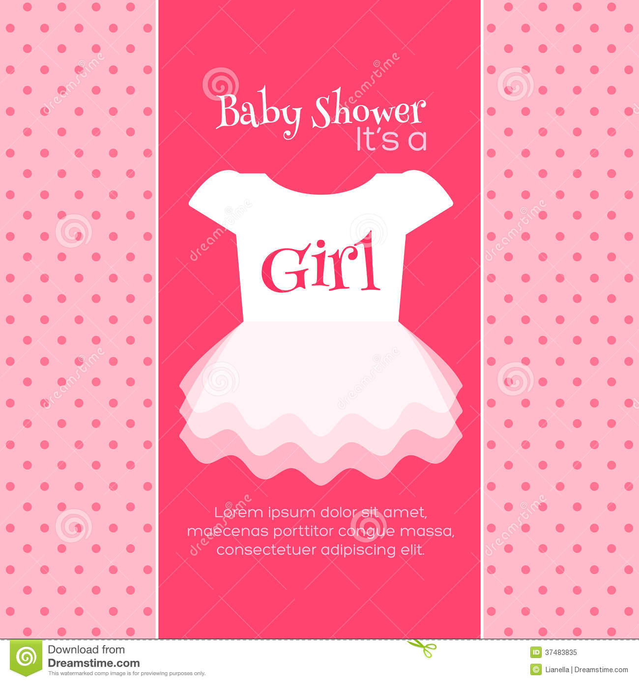 Baby Shower Invitation Template Stock Illustration Illustration Of - Pink baby shower invitation templates