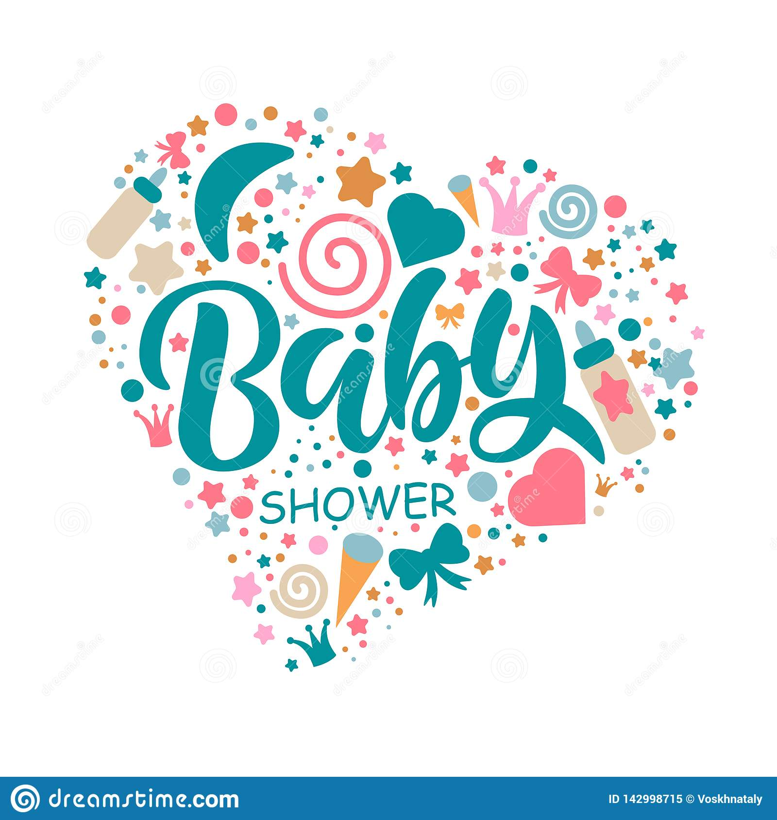 Baby Shower Word Template from thumbs.dreamstime.com