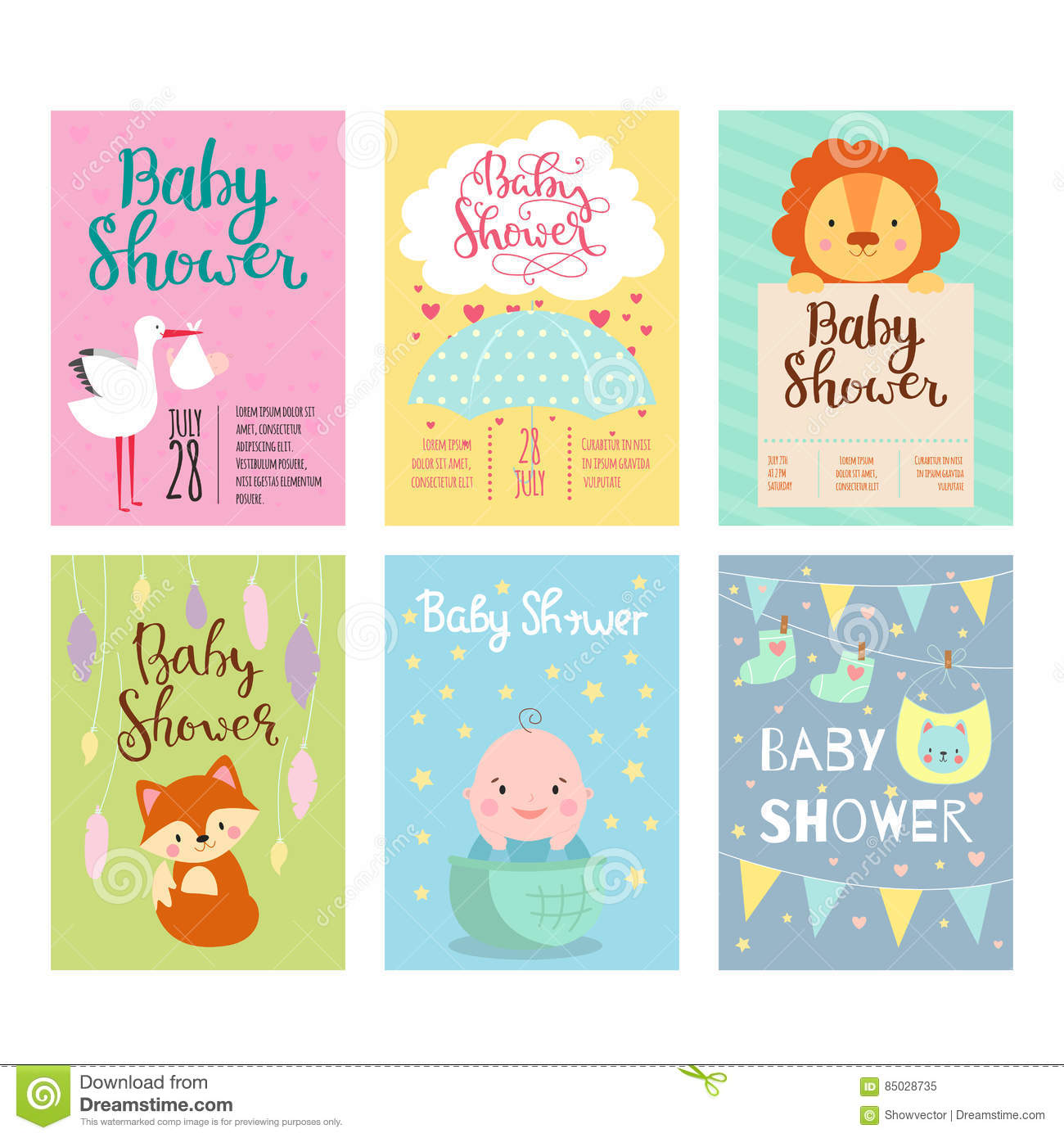 Baby shower invitation vector card stock vector illustration of download baby shower invitation vector card stock vector illustration of birthday child stopboris Choice Image