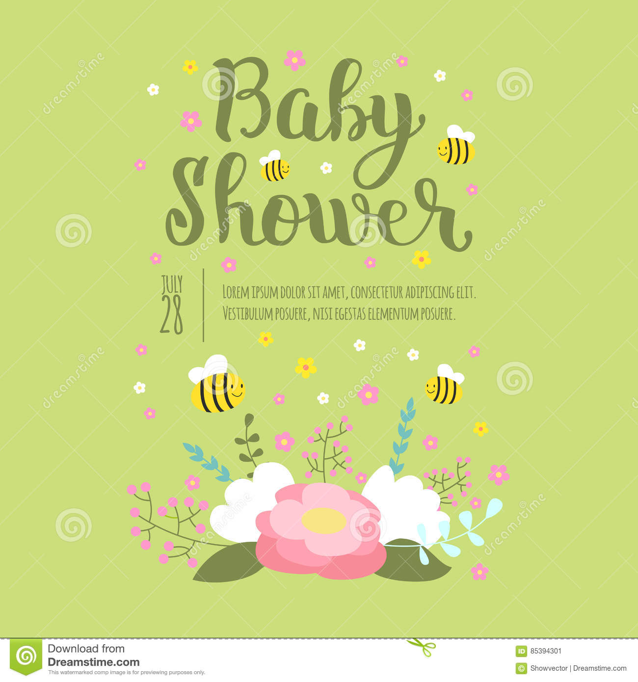 Baby shower invitation vector card stock vector illustration of download baby shower invitation vector card stock vector illustration of baby childhood stopboris Image collections