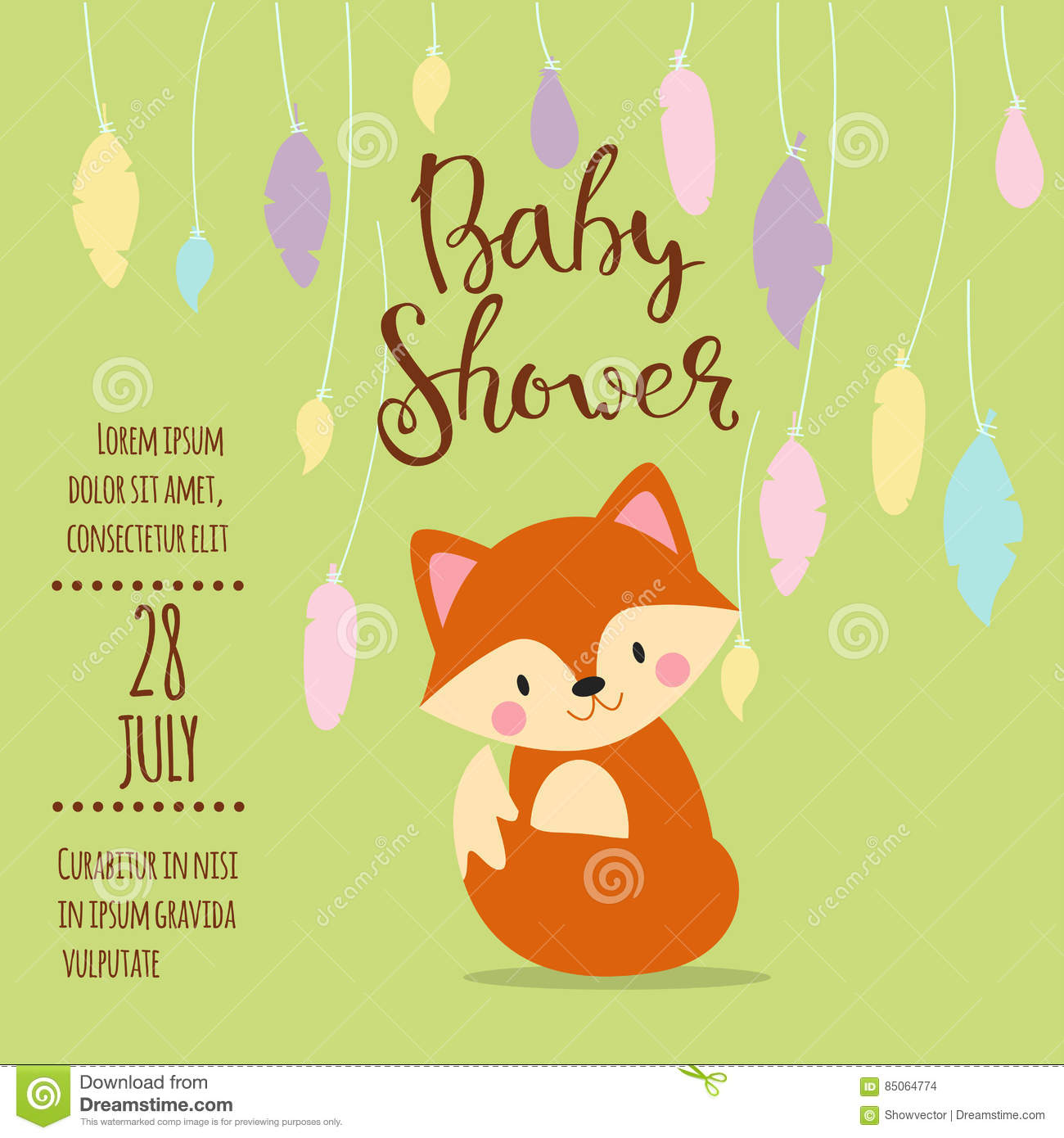 Baby shower invitation vector card stock vector illustration of download baby shower invitation vector card stock vector illustration of arrival flower stopboris Image collections