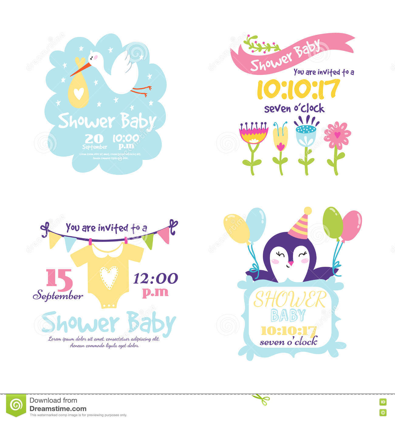 Invitation Party Wedding Free Vector Graphic On Pixabay: Baby Shower Invitation Vector Card Stock Vector