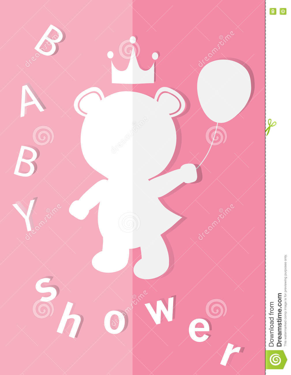 baby shower invitations cards poster greeting template bear vector