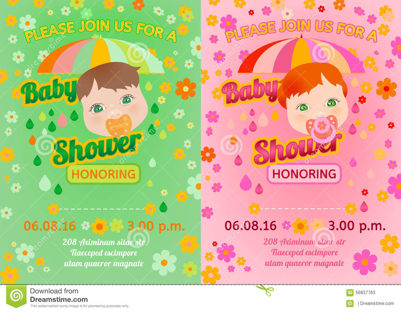 Baby Shower Message Card Vector Image 56837763 – Baby Shower Message