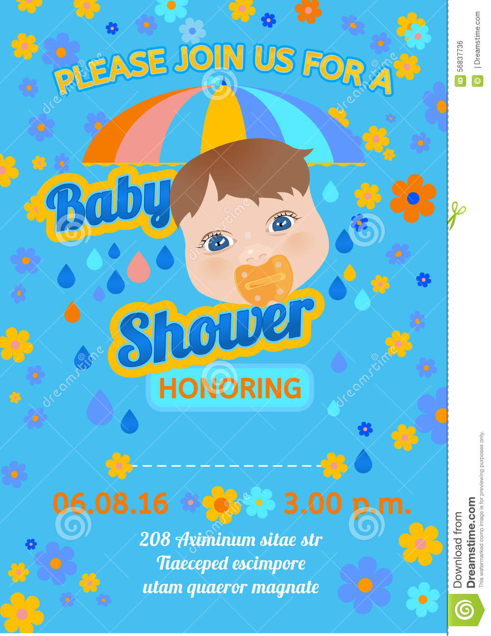 Baby Shower Message Card Vector Image 56837736 – Baby Shower Message