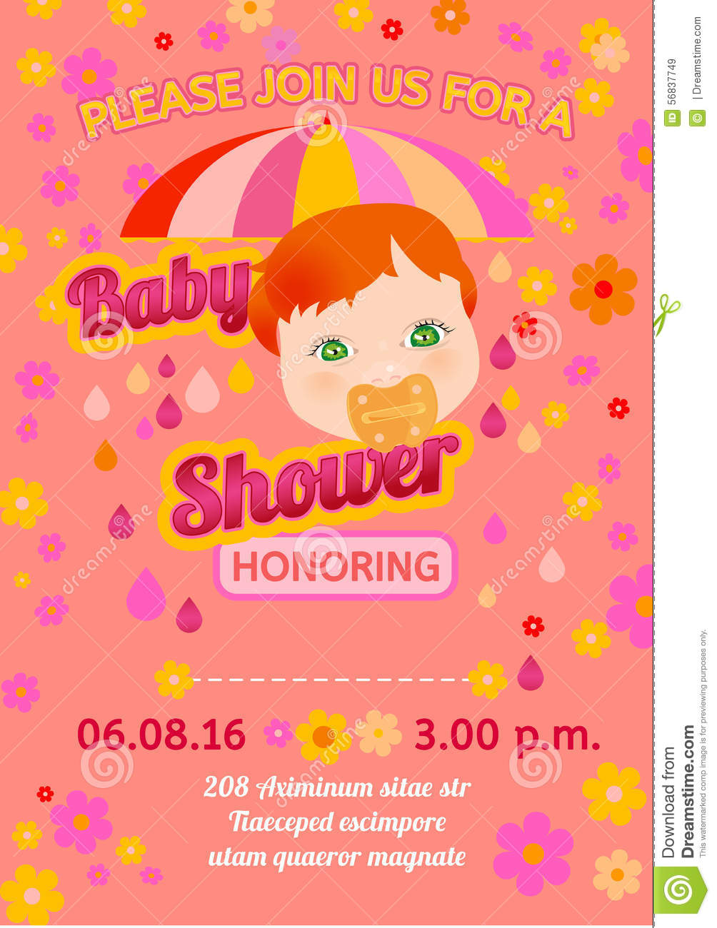 Baby Shower Message Card Vector Image 56837749 – Baby Shower Message