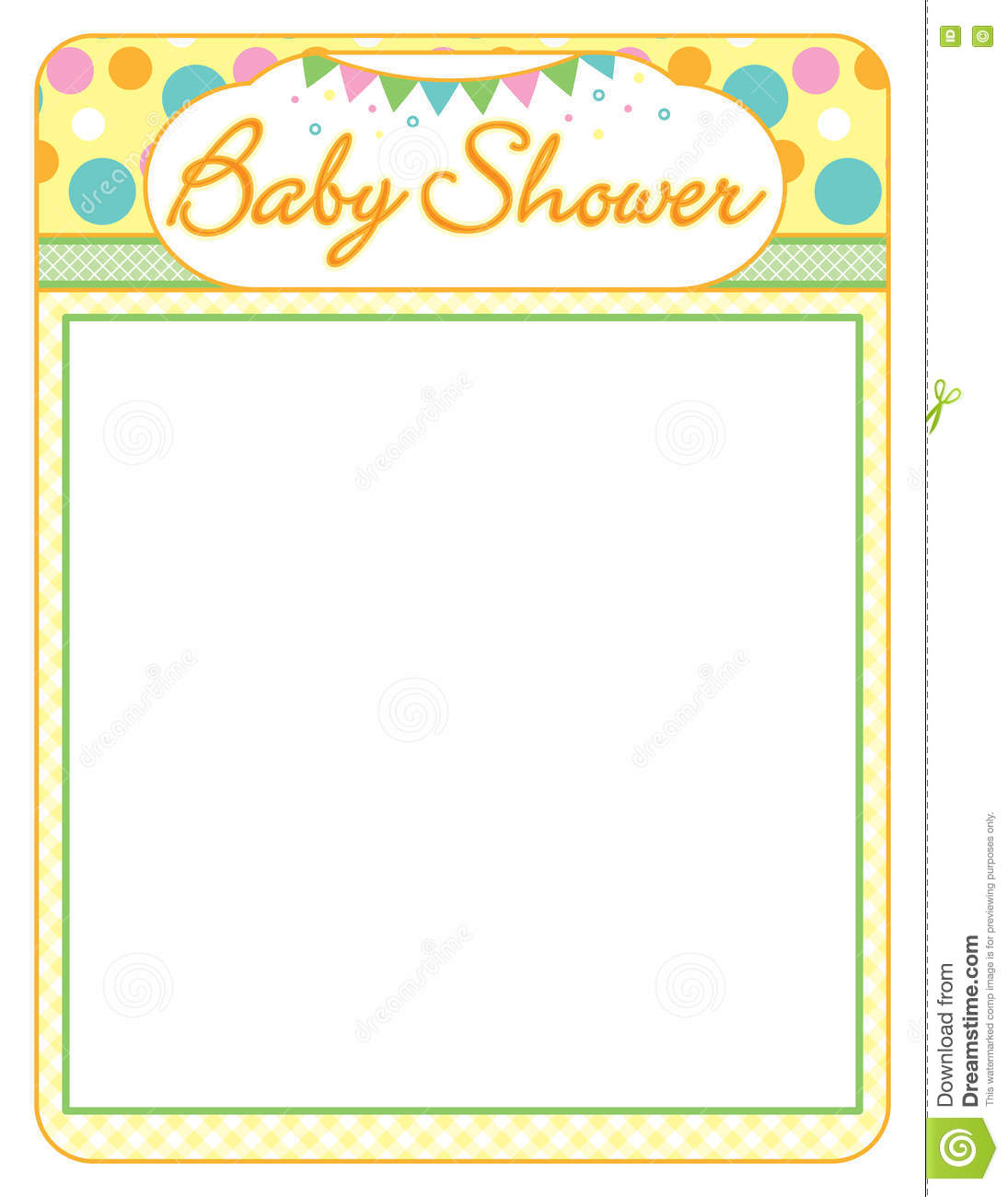 baby shower neutral boy or girl frame print sheet