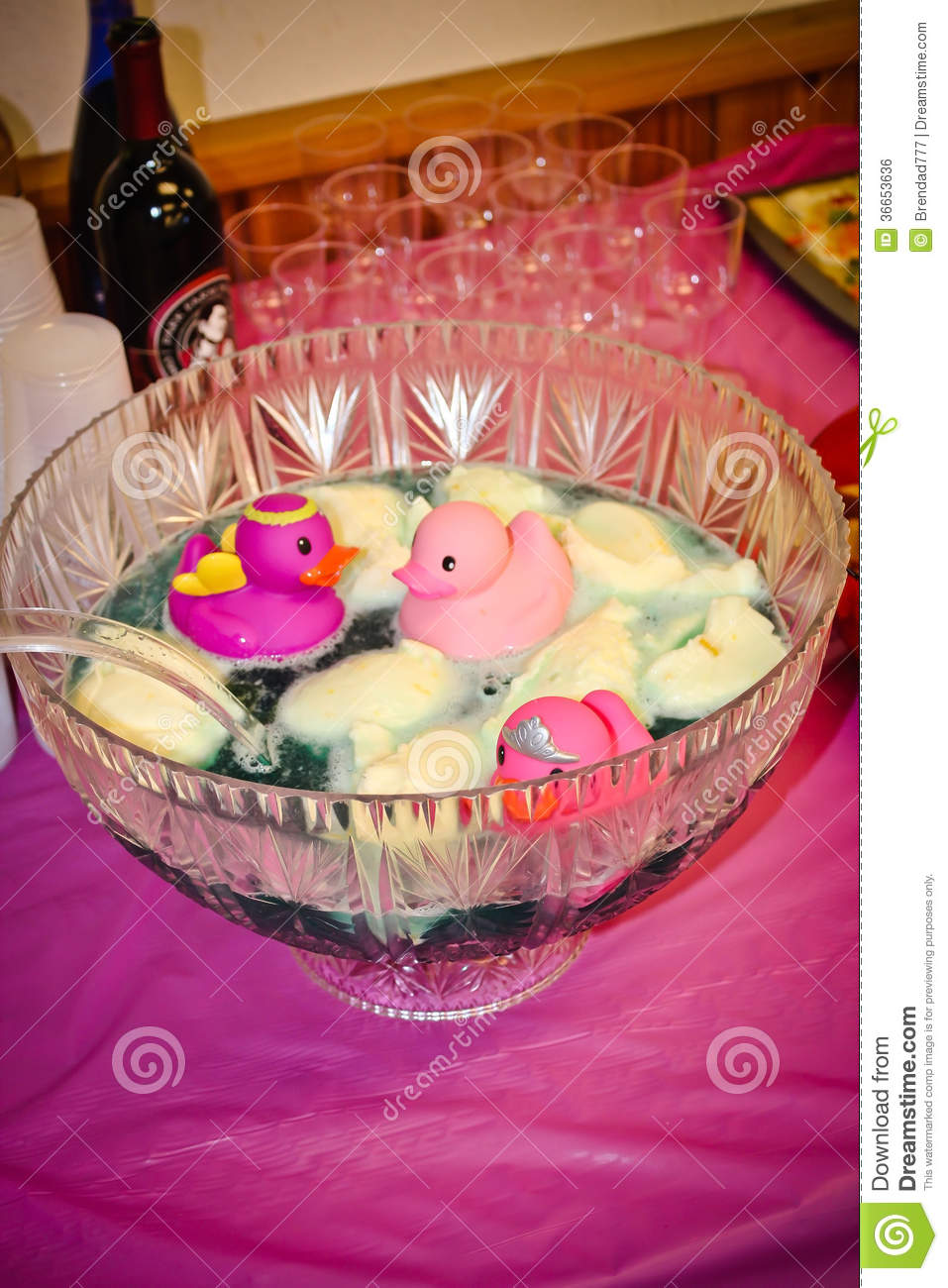 Baby Shower Punch Bowl Royalty Free Stock Image   Image: 36653636