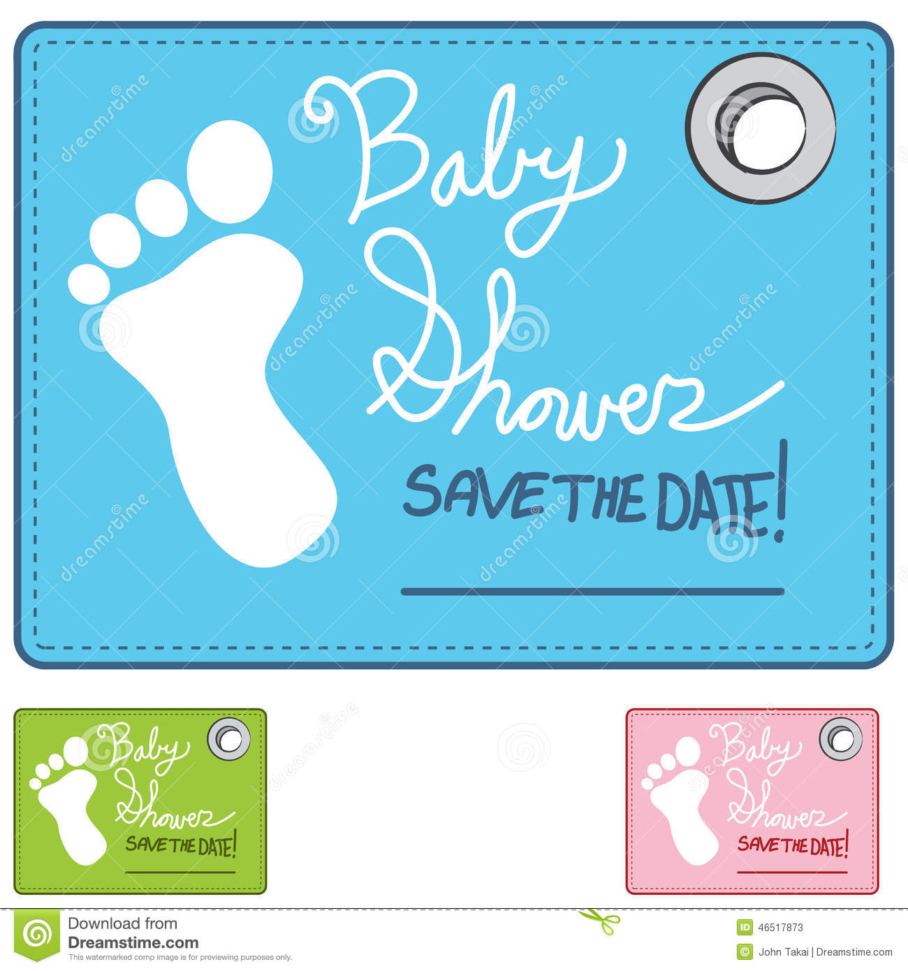 Baby Shower Reminder Card Stock Vector Image 46517873