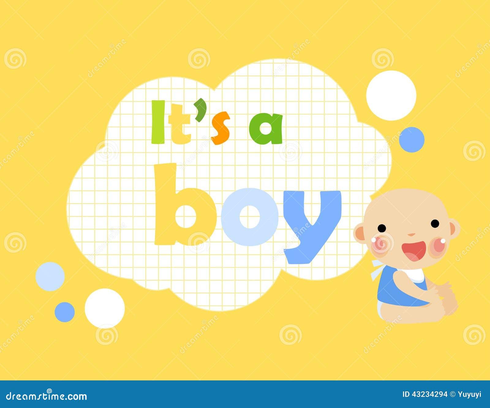 baby showerits a boy stock vector image 43234294