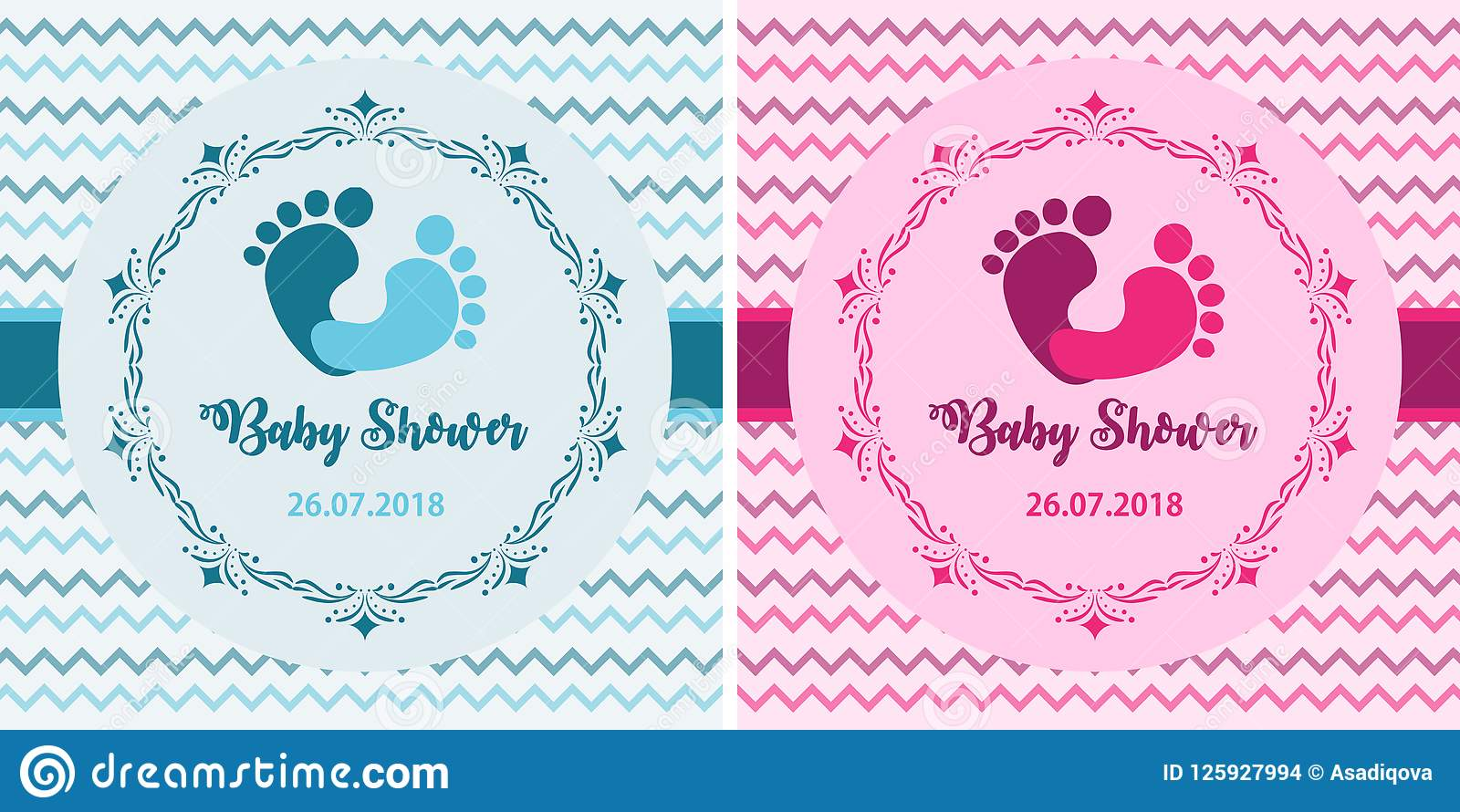 Baby Shower Set Cute Invitation Cards Design For Baby