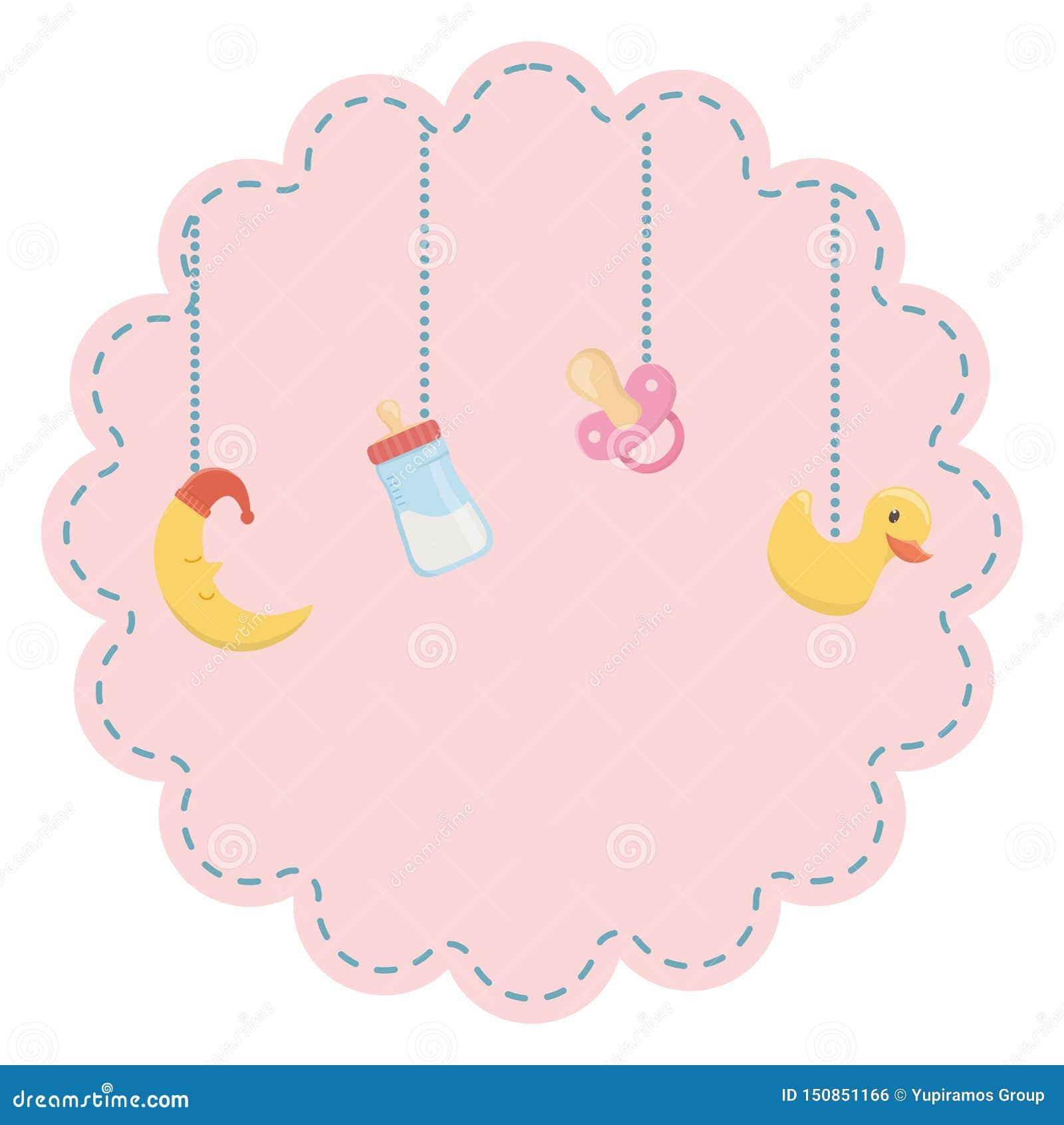 Baby shower symbol design vector illustration