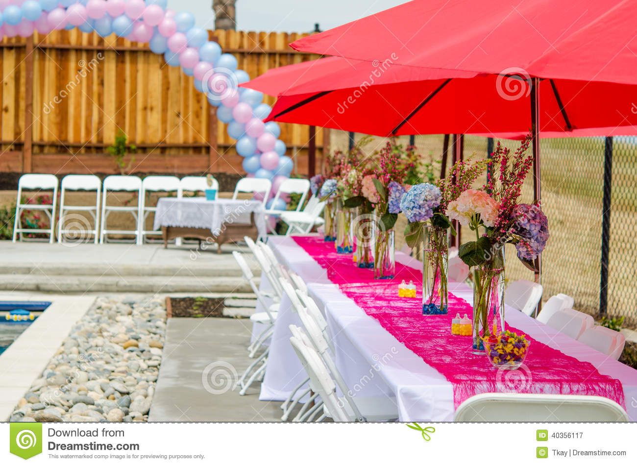 Baby Shower Table Decorations Stock Photo - Image: 40356117