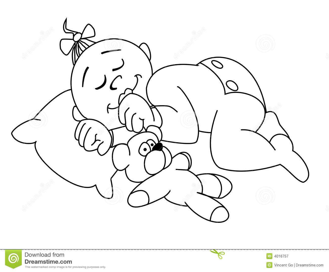 Baby sleep stock illustration. Image of child, girl, sleep ...