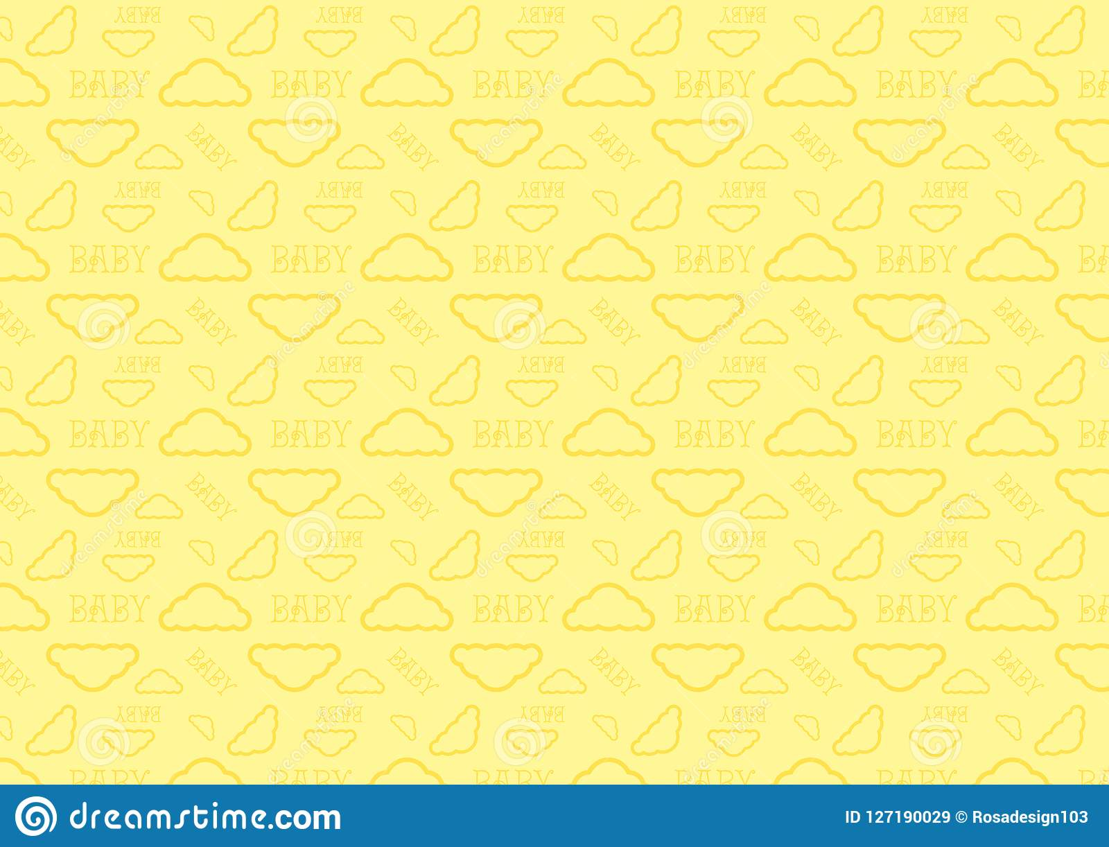 Baby Sleep Time Cloud Seamless Pattern Full Resizable ...