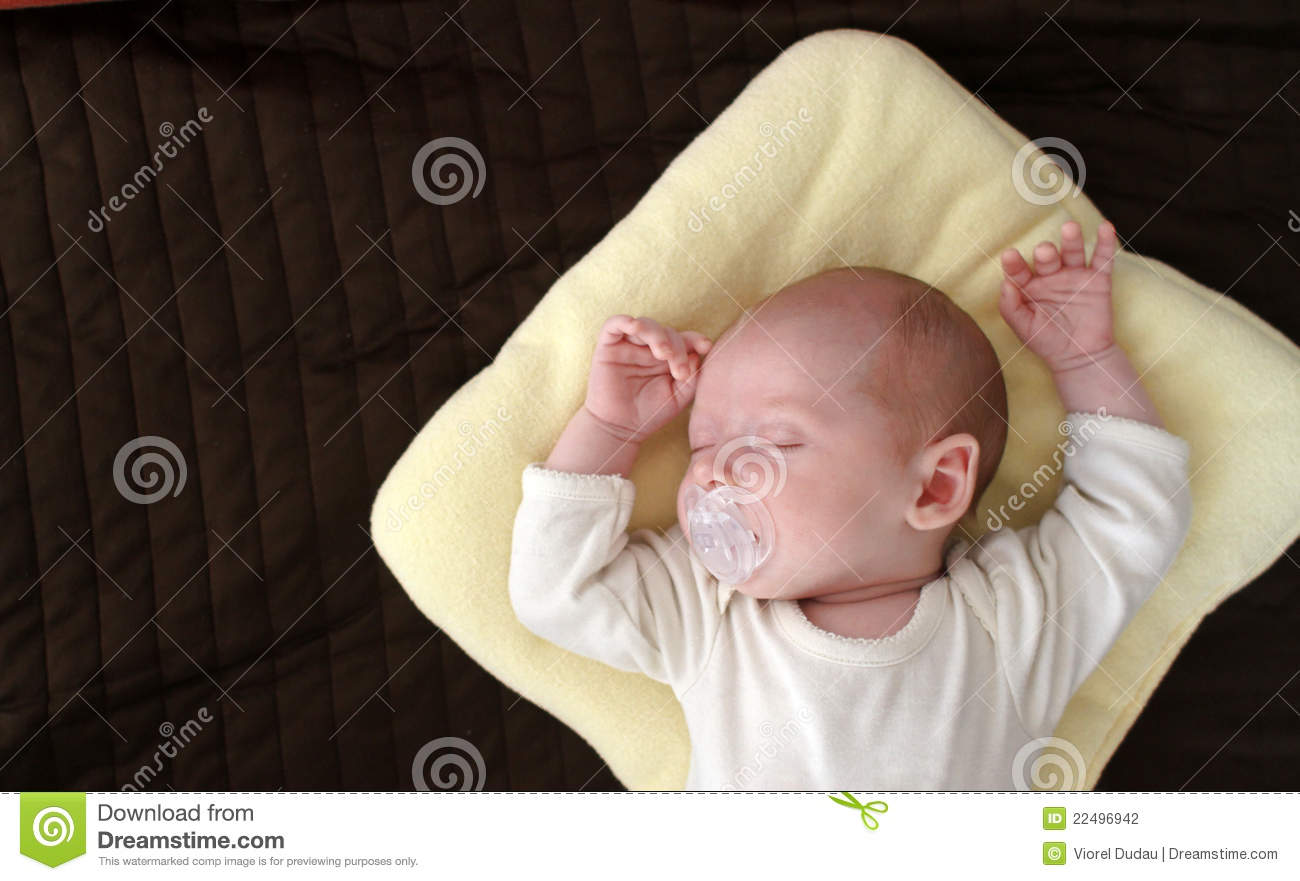 Download Baby sleeping stock photo. Image of childhood, baby, clean - 22496942