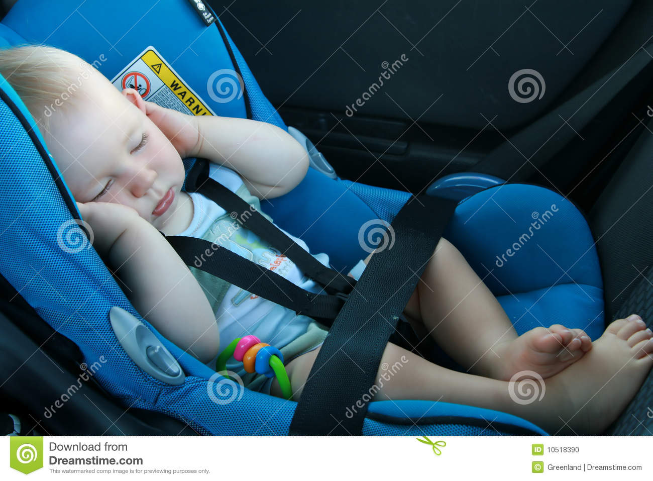 Baby Sleeping In Car Seat Stock Photo - Image: 10518390