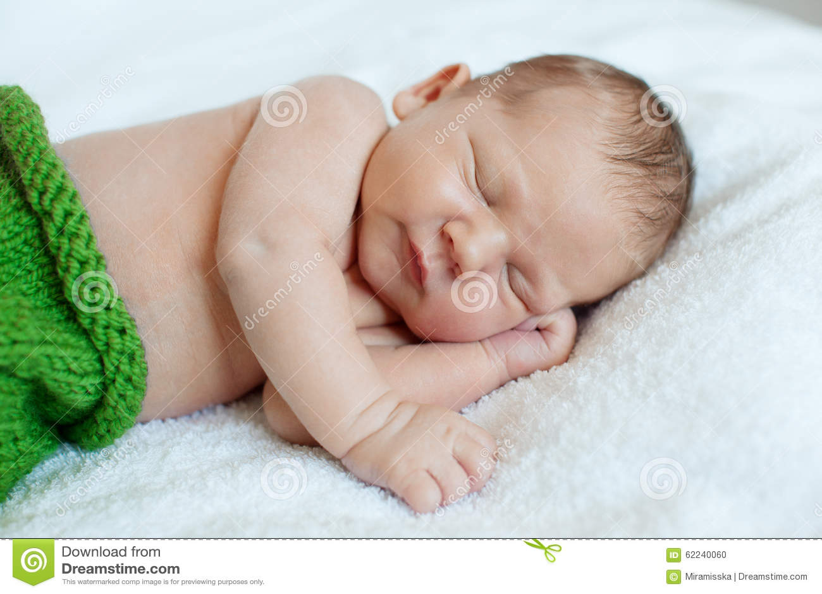 Baby sleeping. Newborn, kid art. Beauty child, boy or girl sleep