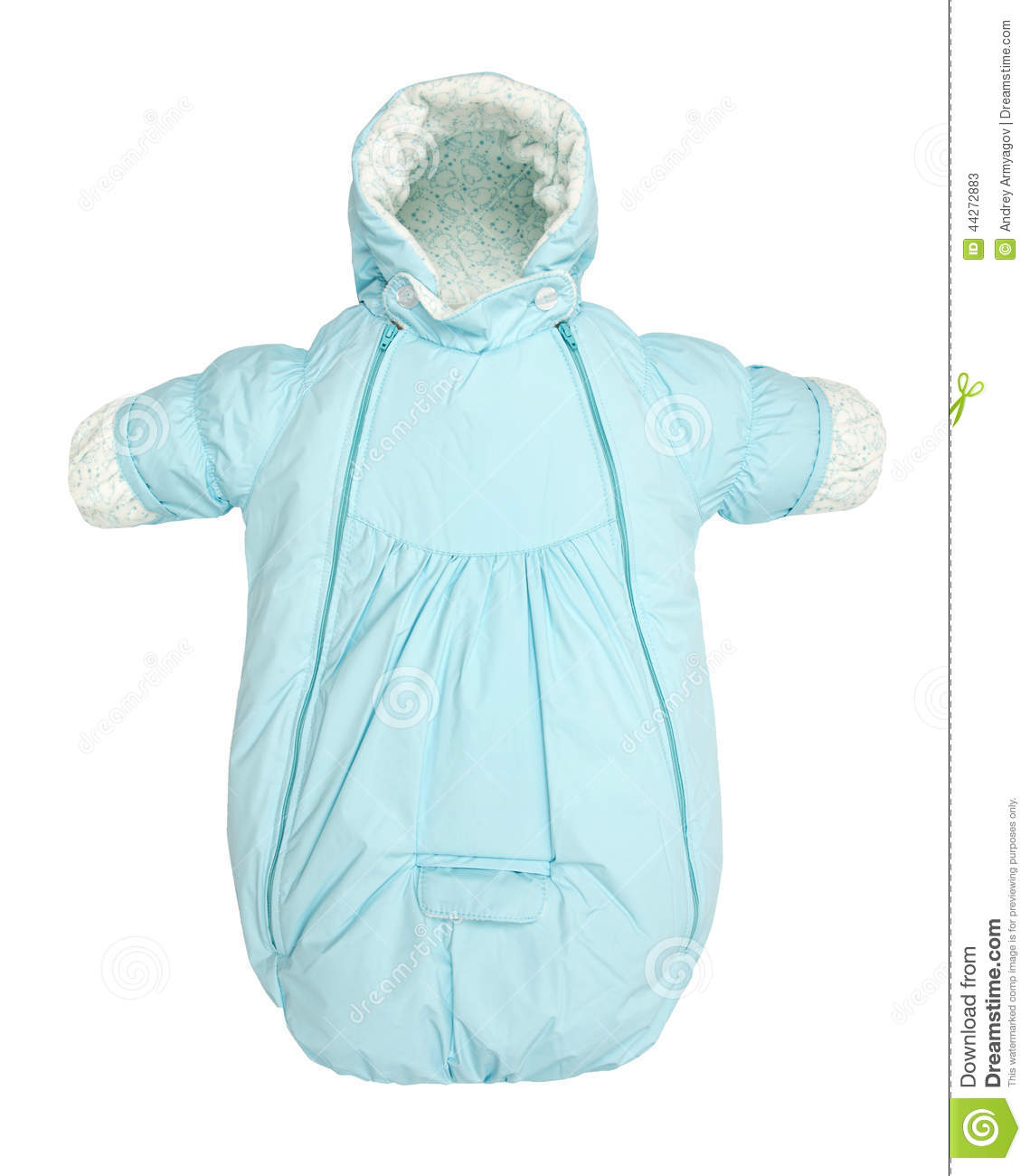 Baby Snowsuit Bag Stock Image Image Of Little Clothing