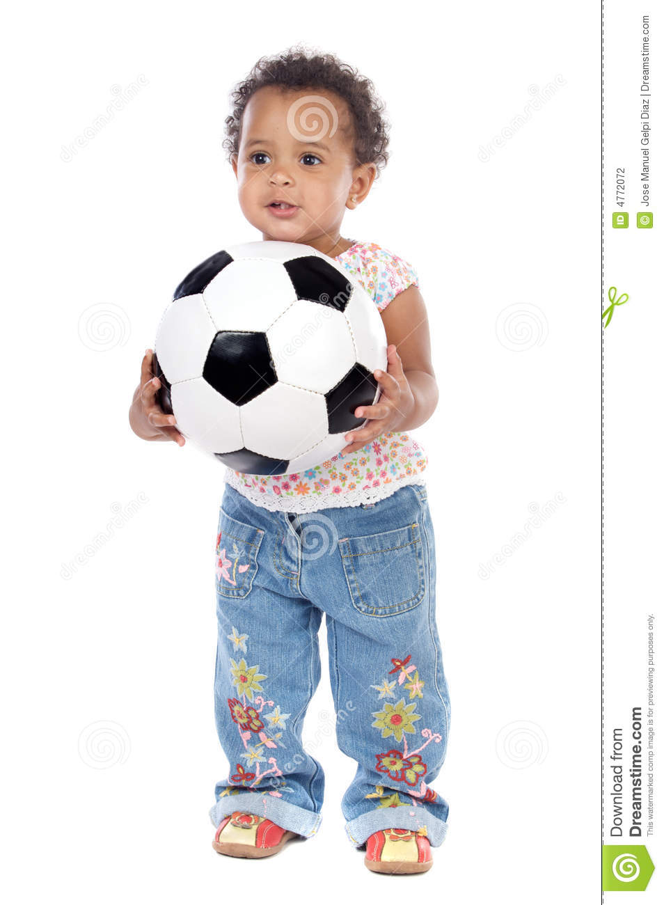 Baby With Soccer Ball Stock Photography Cartoondealer