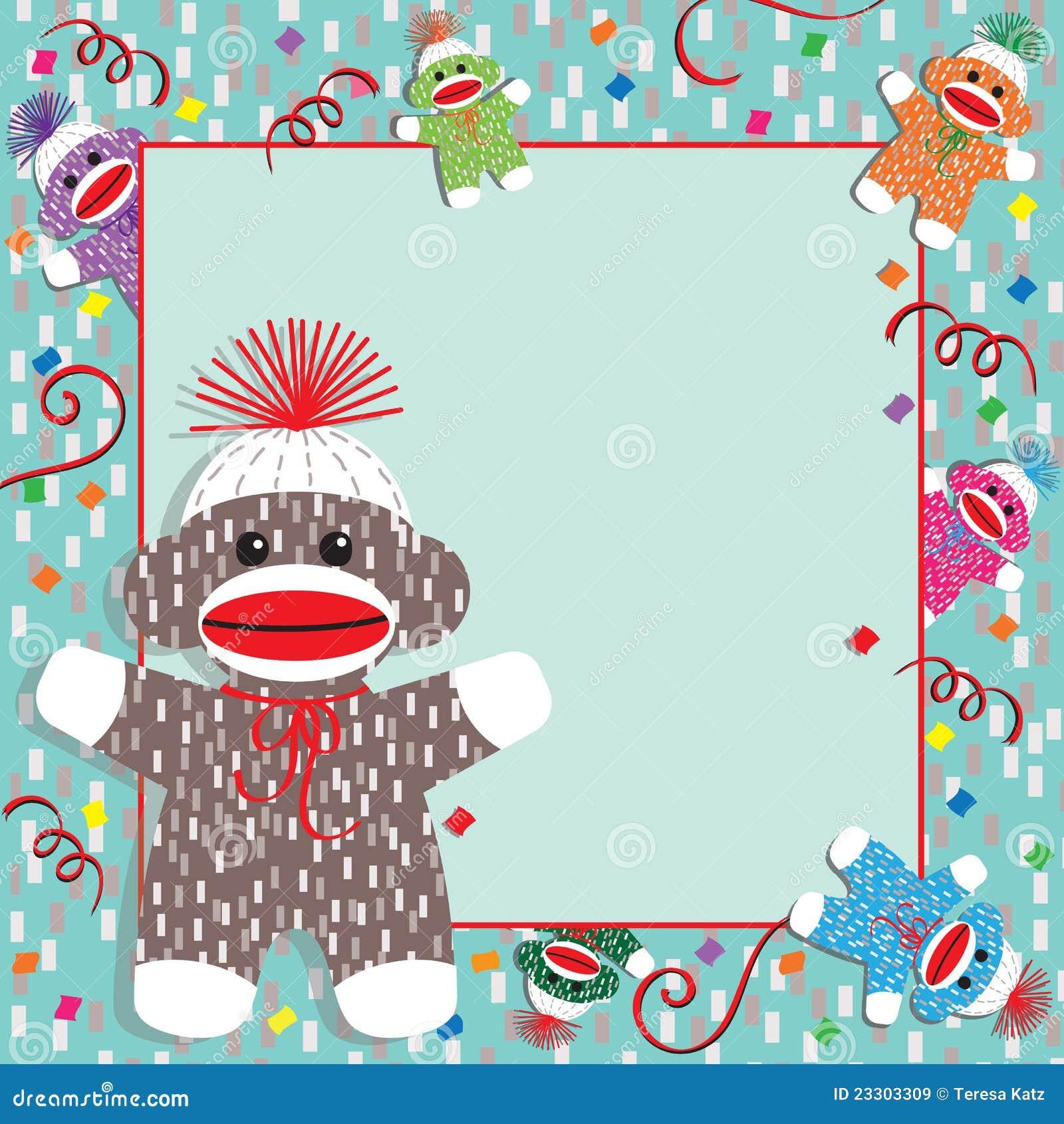 Sock Monkey Baby Shower Invitations for adorable invitation sample