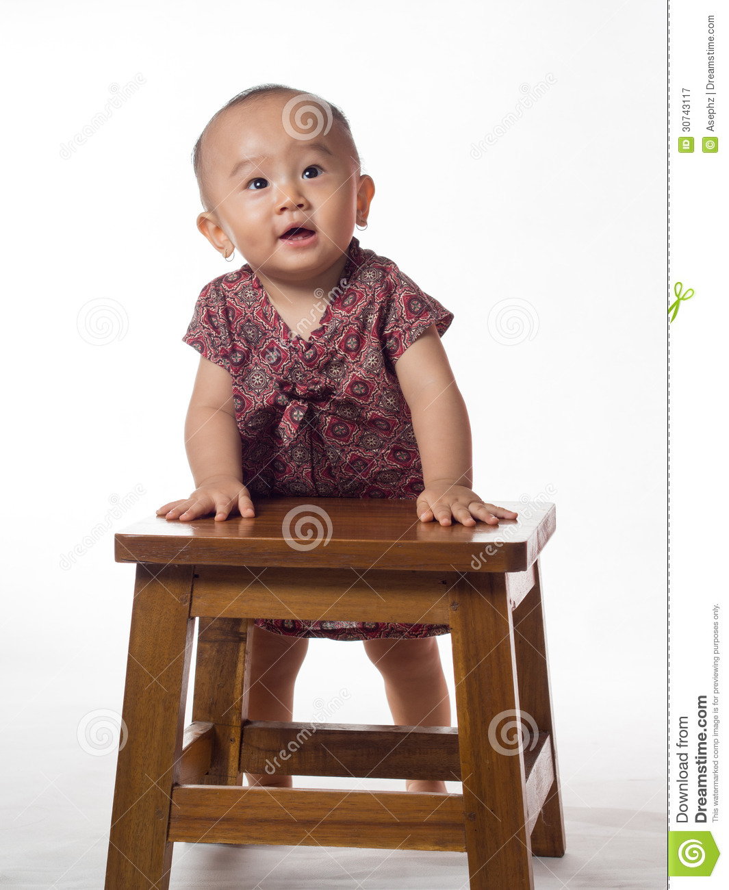 Baby Standing Using Support Royalty Free Stock Photography